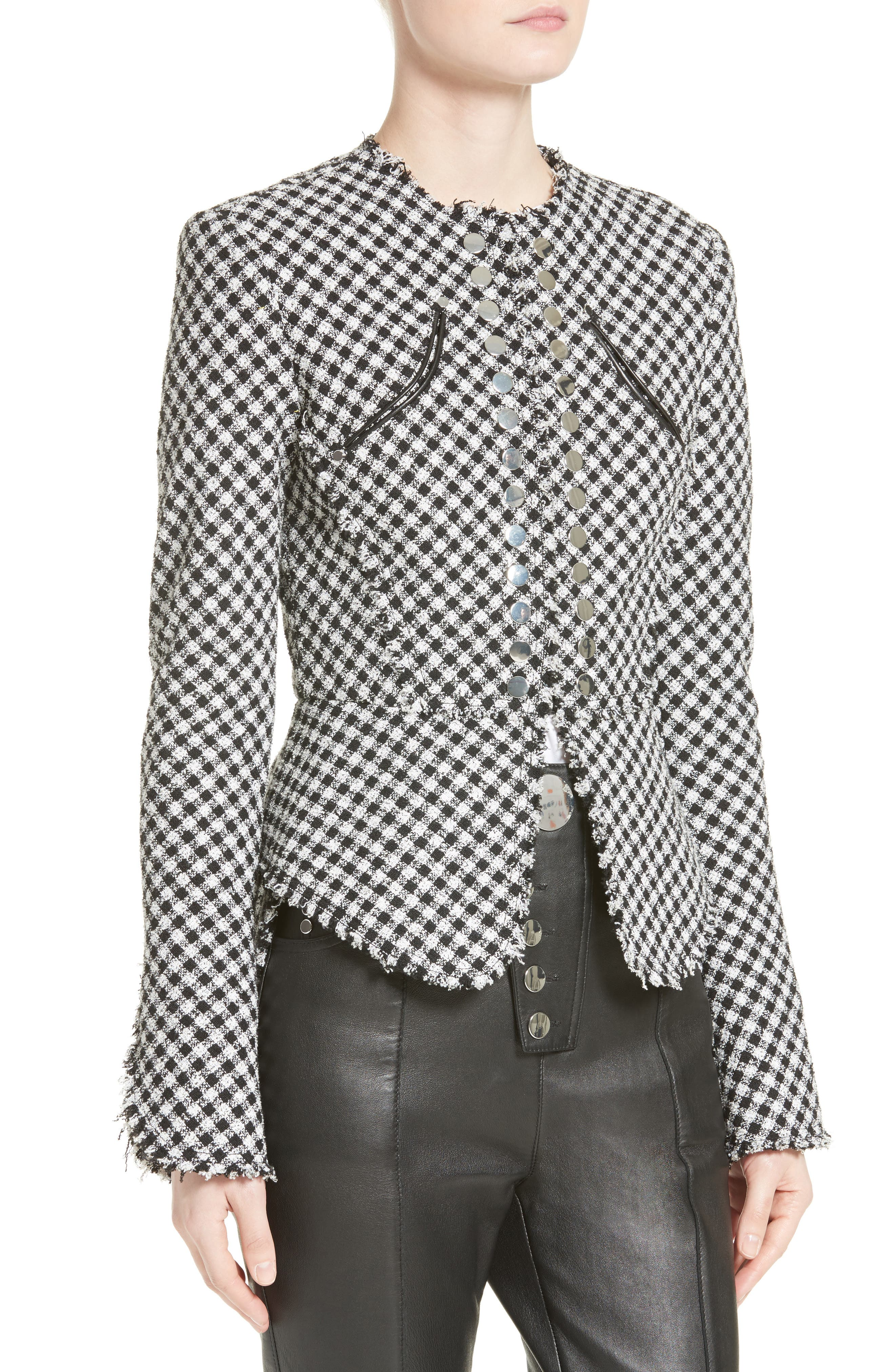 Alternate Image 6  - Alexander Wang Check Tweed Peplum Jacket
