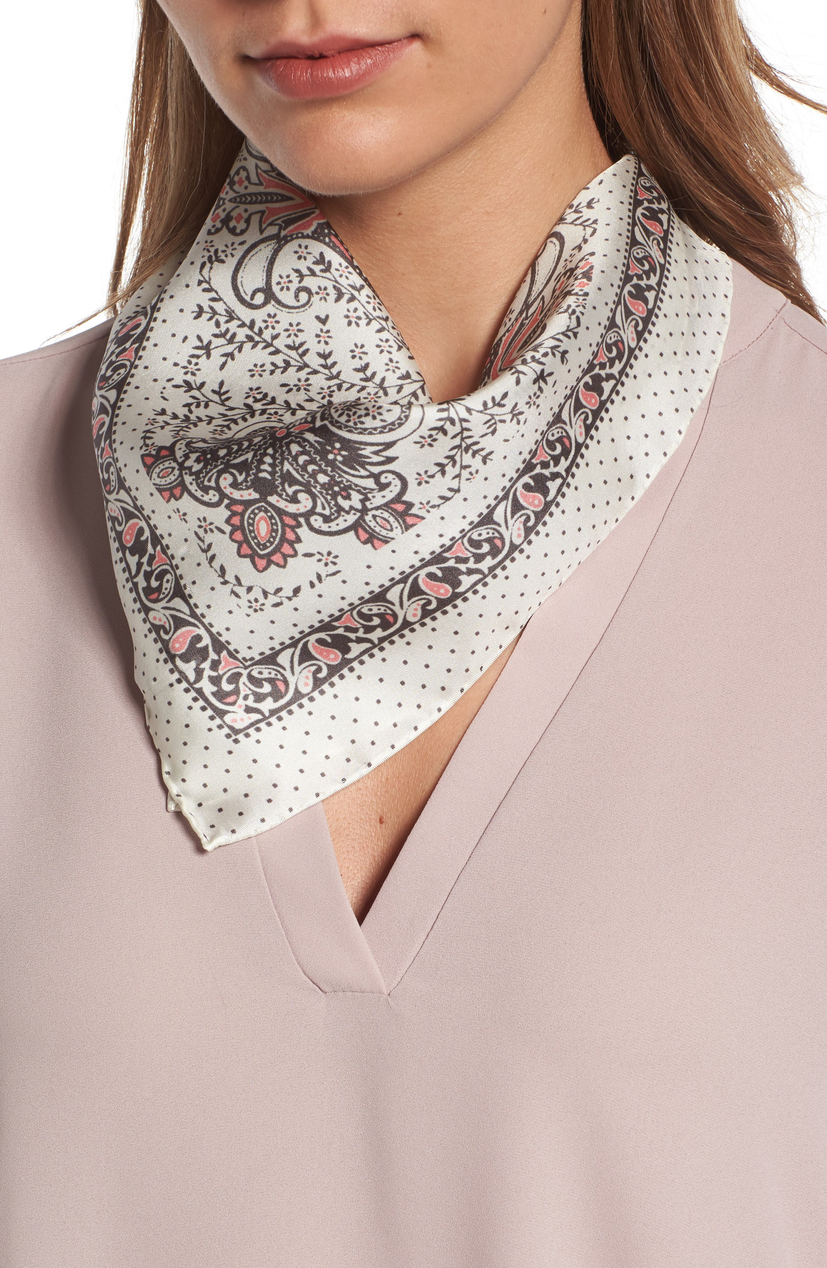 Alternate Image 1 Selected - Rebecca Minkoff Handkerchief Paisley Silk Scarf
