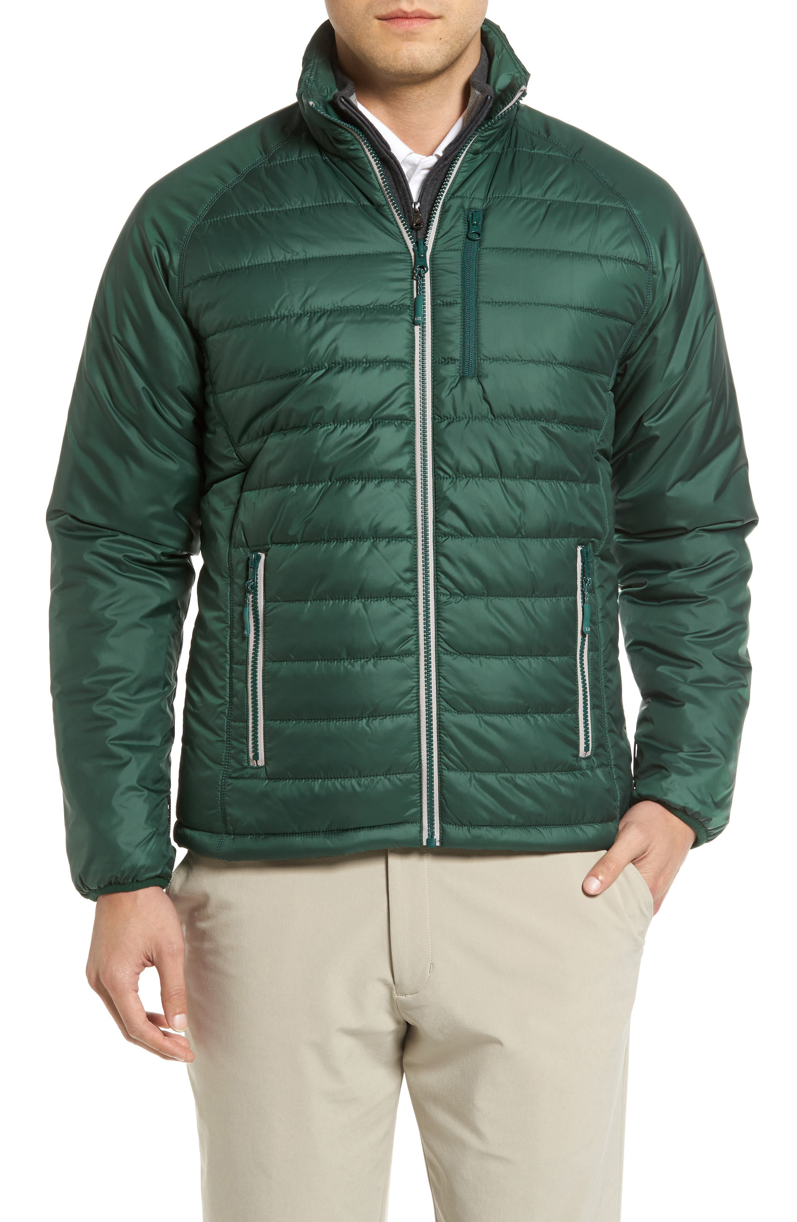 Alternate Image 1 Selected - Cutter & Buck Barlow Pass Quilted Jacket