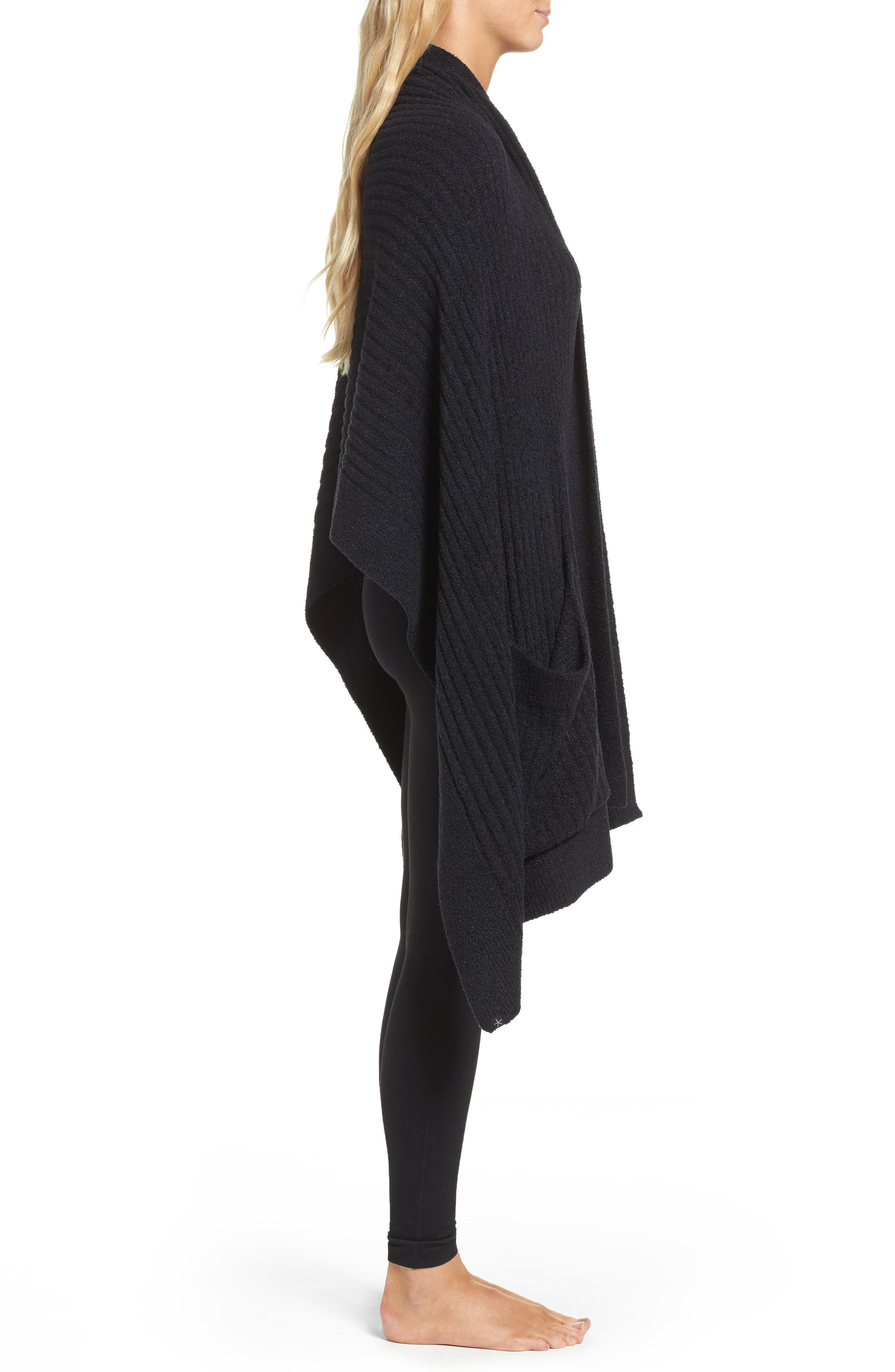 Cozychic Lite<sup>®</sup> Travel Shawl,                             Alternate thumbnail 3, color,                             Midnight