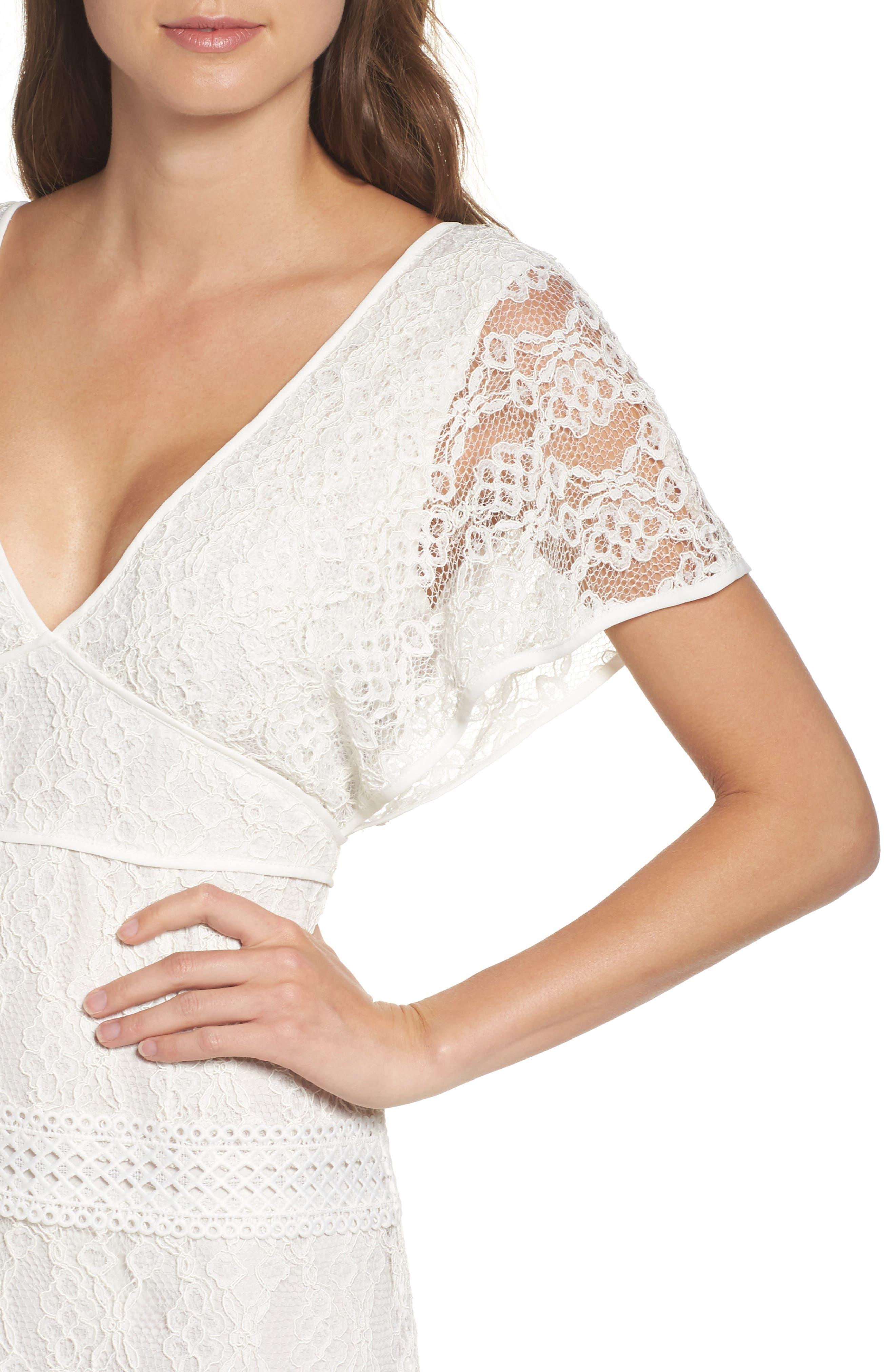 Alternate Image 4  - Foxiedox Cecilia Lace Sheath Gown