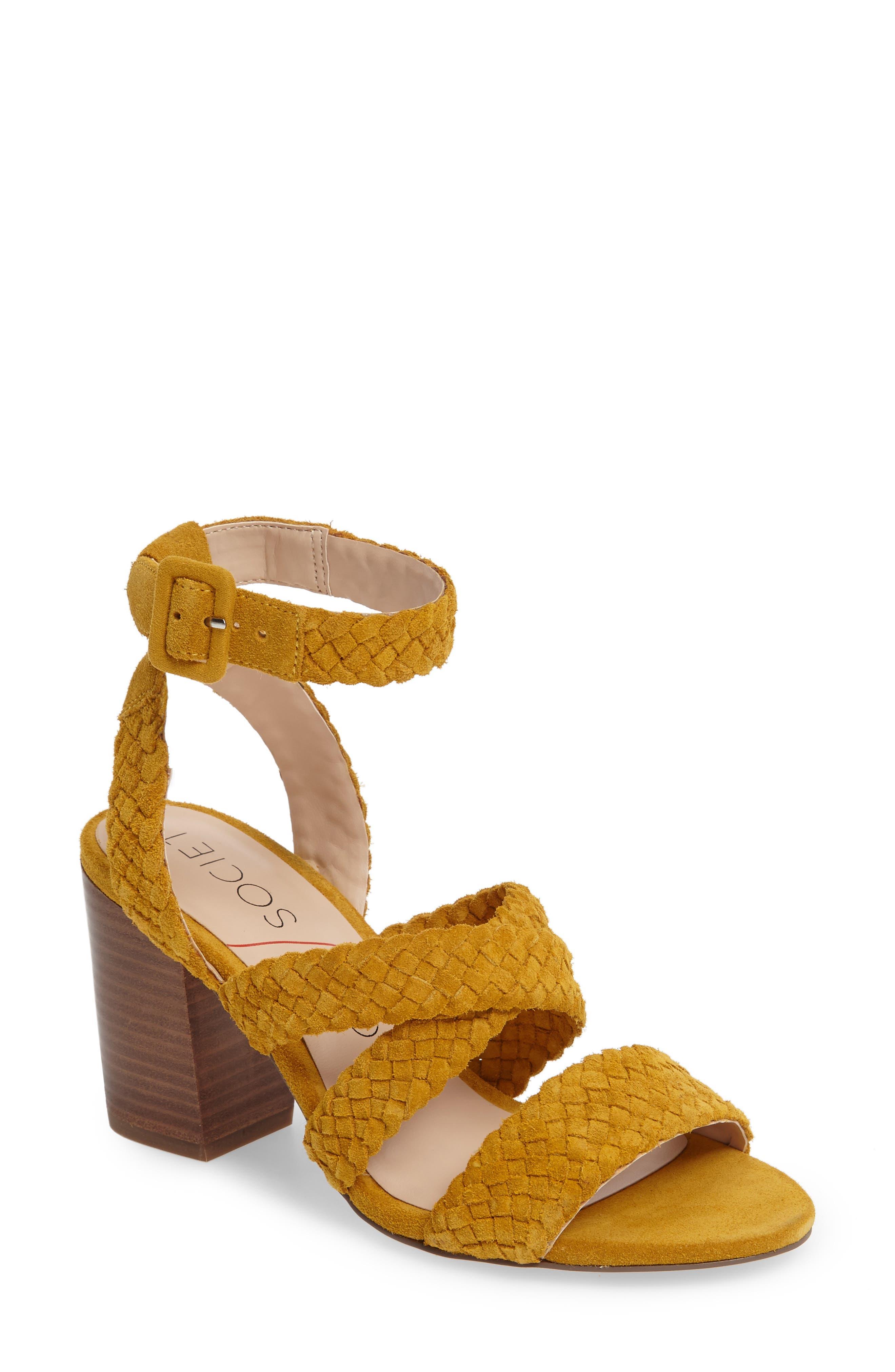 Sole Society Evelina Block Heel Sandal (Women)