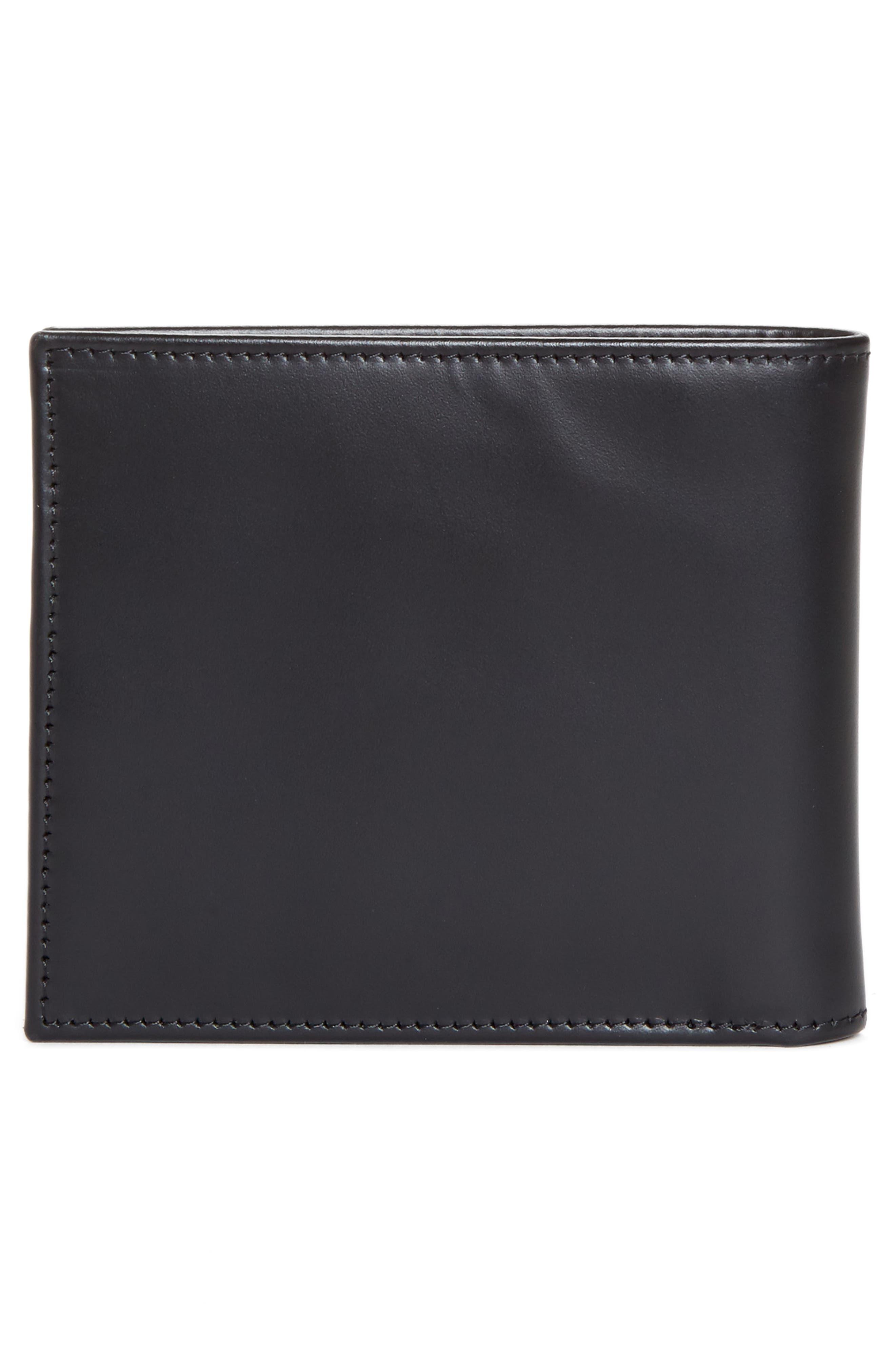 Multistripe Leather Wallet,                             Alternate thumbnail 3, color,                             Black