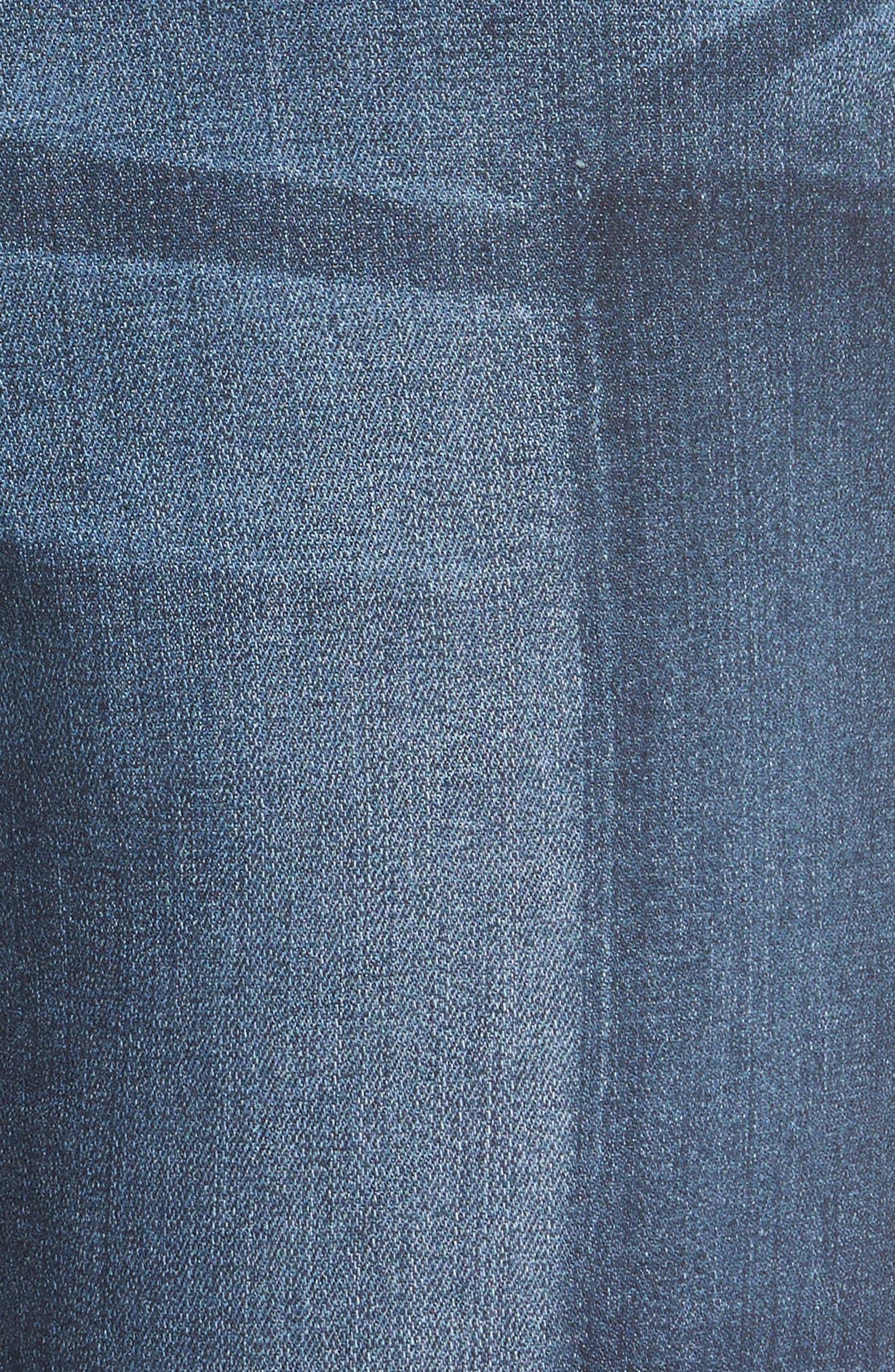 Alternate Image 6  - Caslon® Patchwork Skinny Jeans (Regular & Petite)