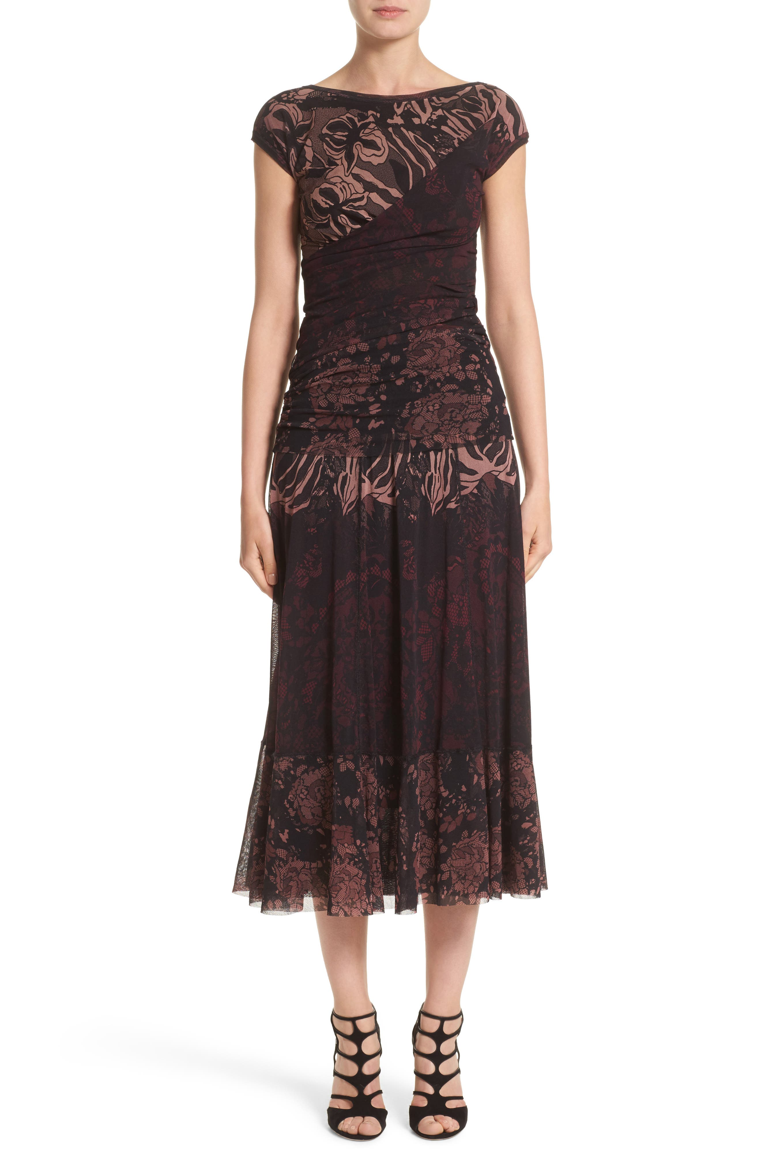 Tulle Midi Skirt,                             Alternate thumbnail 8, color,                             Plum
