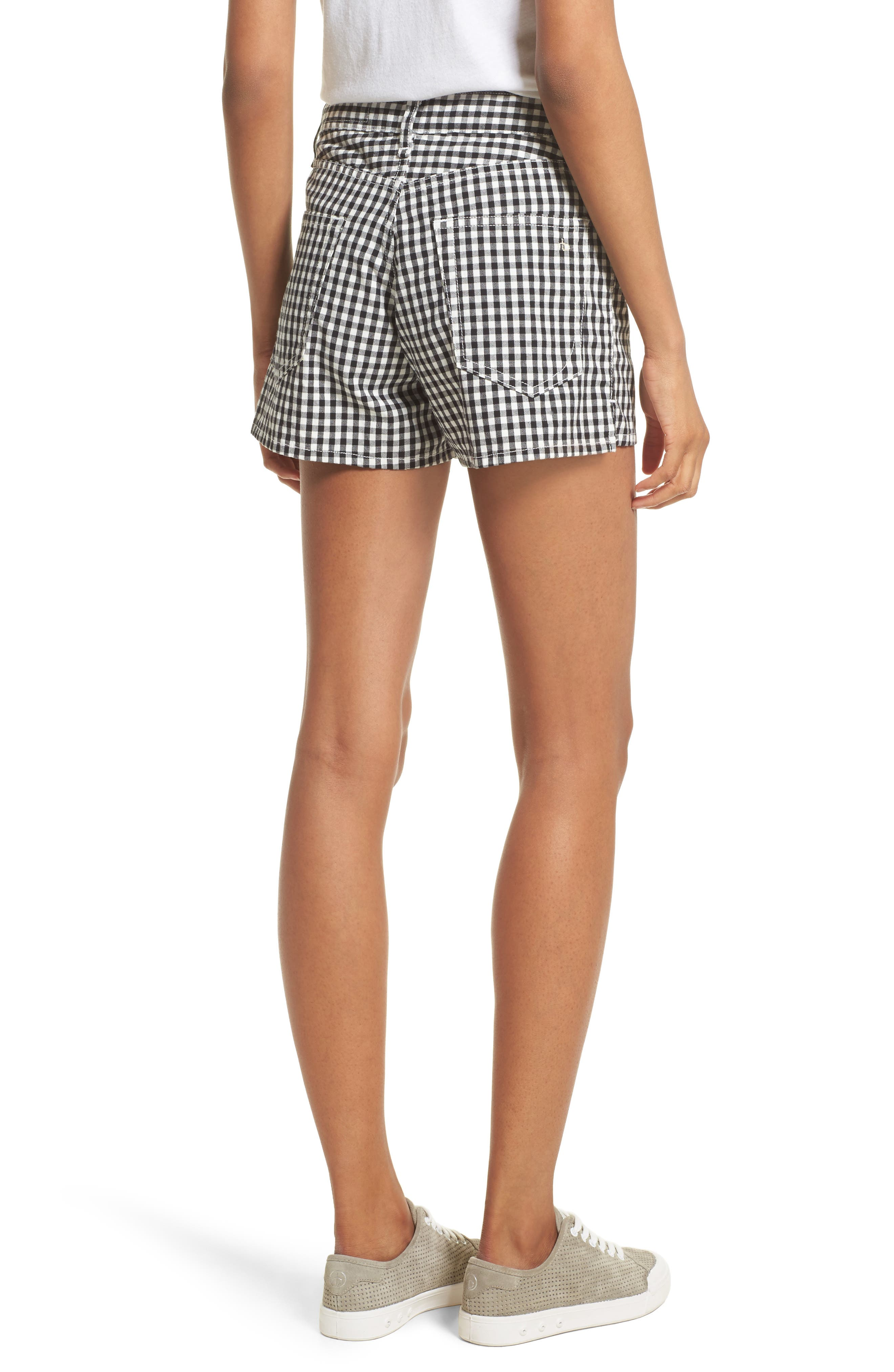 Justine Gingham Shorts,                             Alternate thumbnail 2, color,                             Gingham