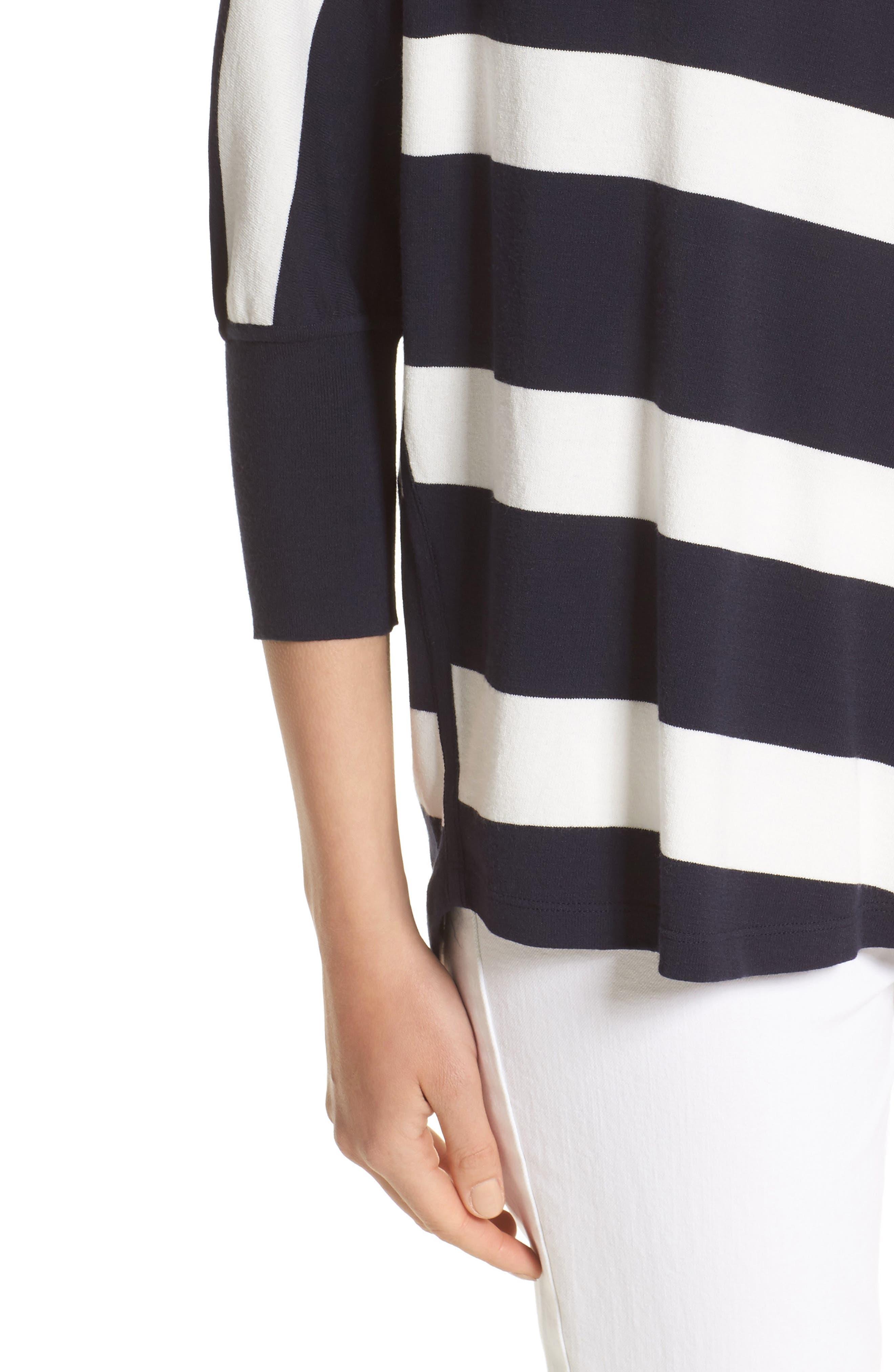 Alternate Image 5  - Lafayette 148 New York Stripe Sweater