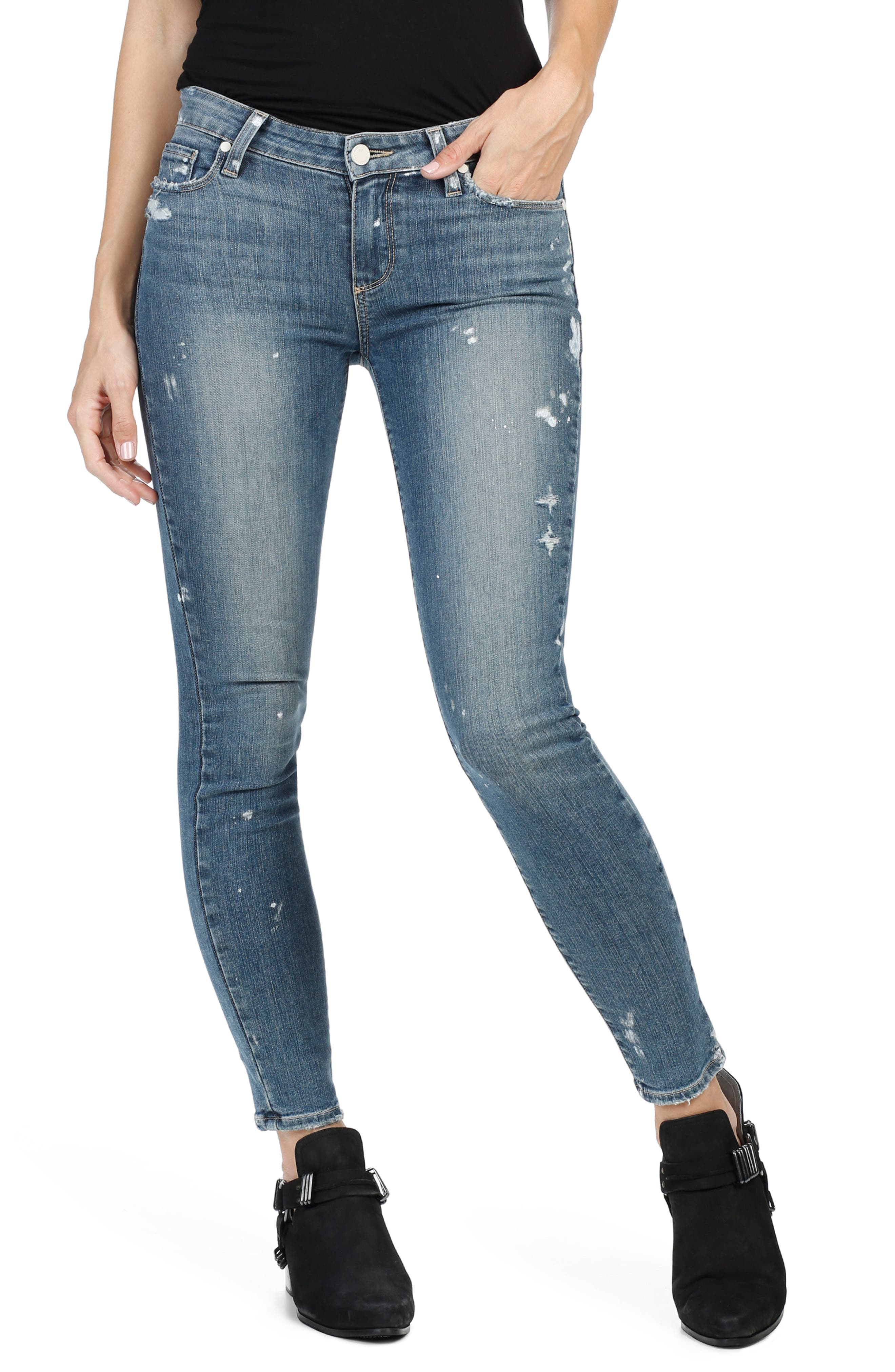 PAIGE Verdugo Ankle Skinny Jeans (Kirsten Distressed)