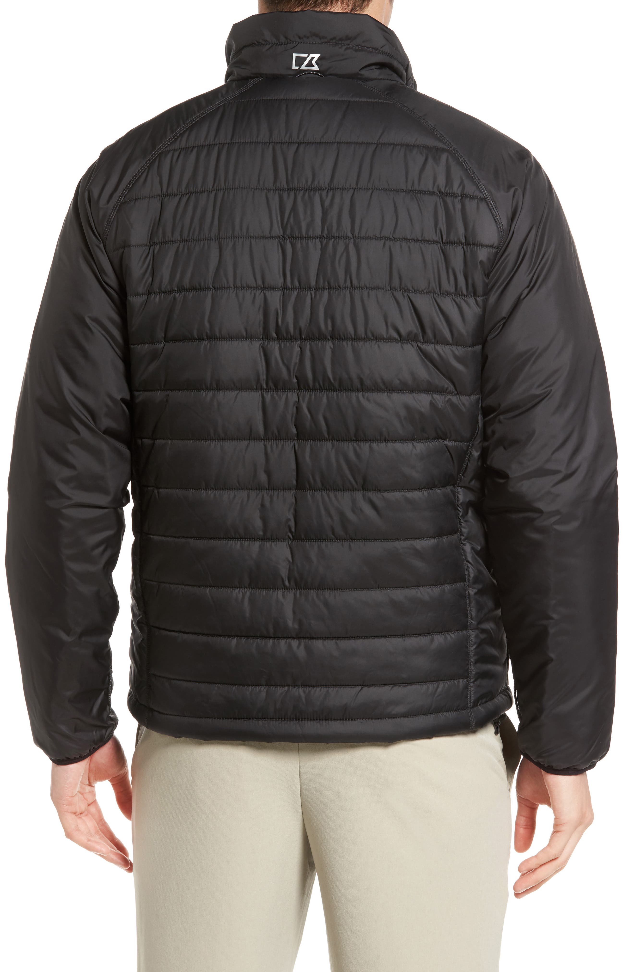 Barlow Pass Quilted Jacket,                             Alternate thumbnail 2, color,                             Black