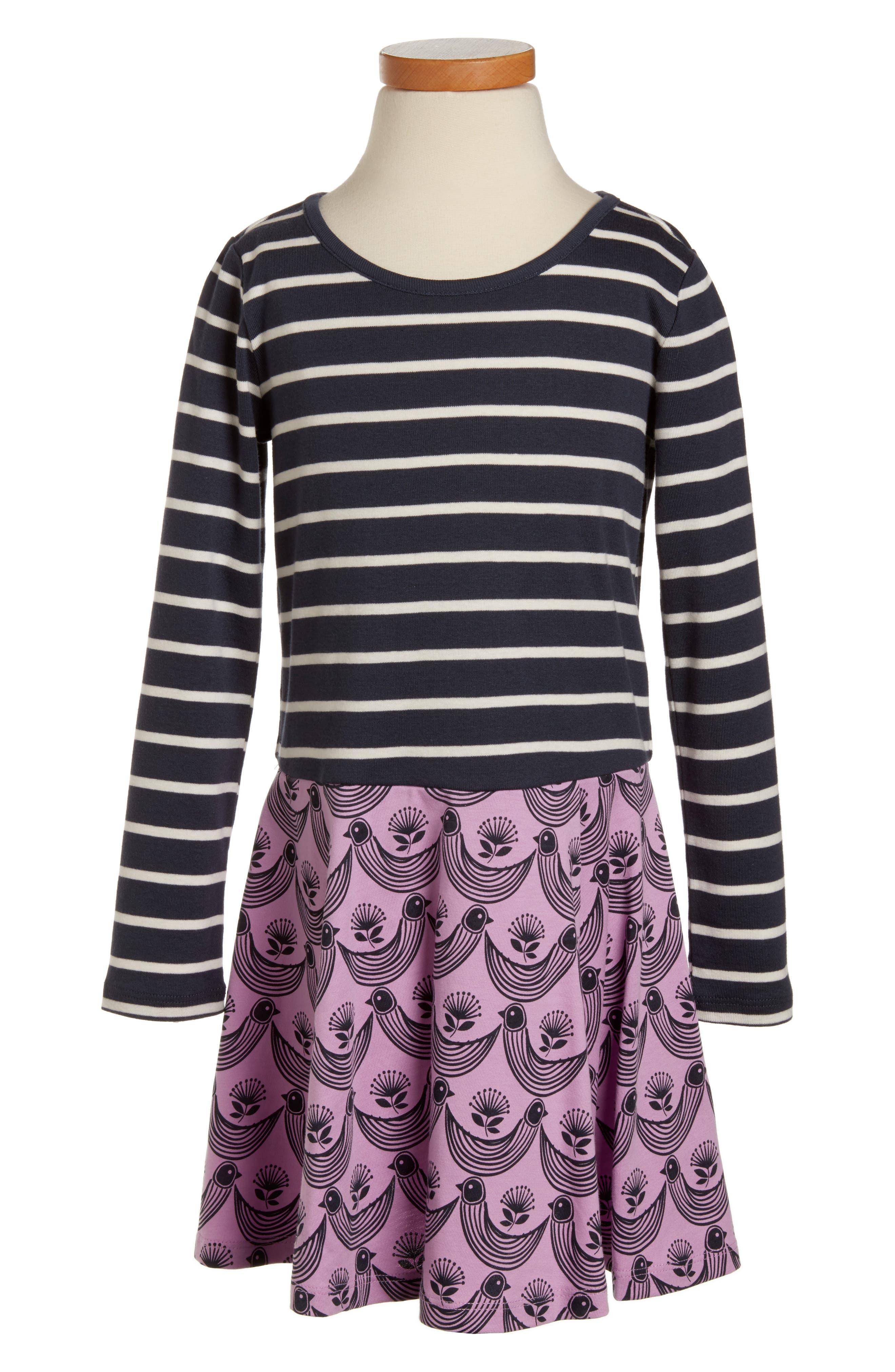 Main Image - Tea Collection Mixed Print Dress (Toddler Girls, Little Girls & Big Girls)