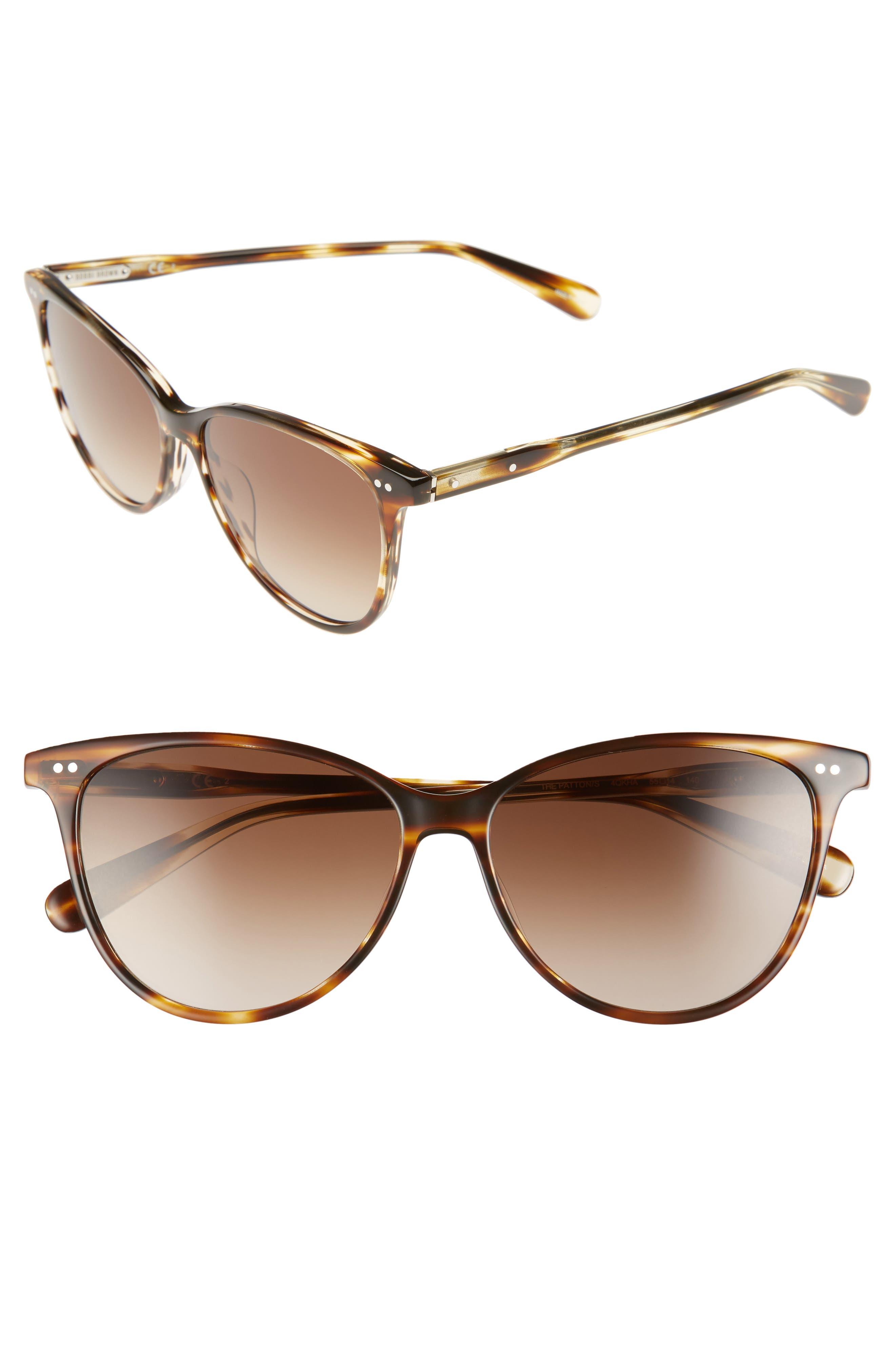 Bobbi Brown The Patton 55mm Gradient Cat Eye Sunglasses