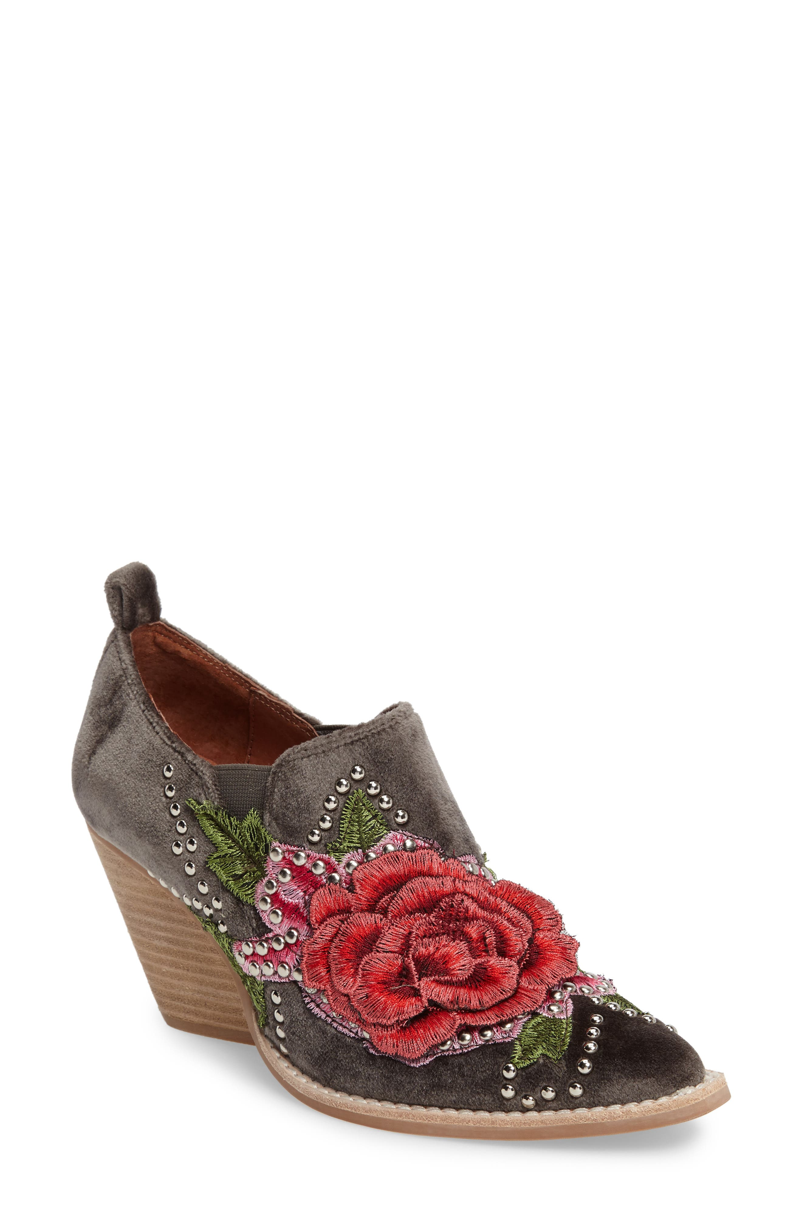 Alternate Image 1 Selected - Jeffrey Campbell Roseola Studded Appliqué Bootie (Women)