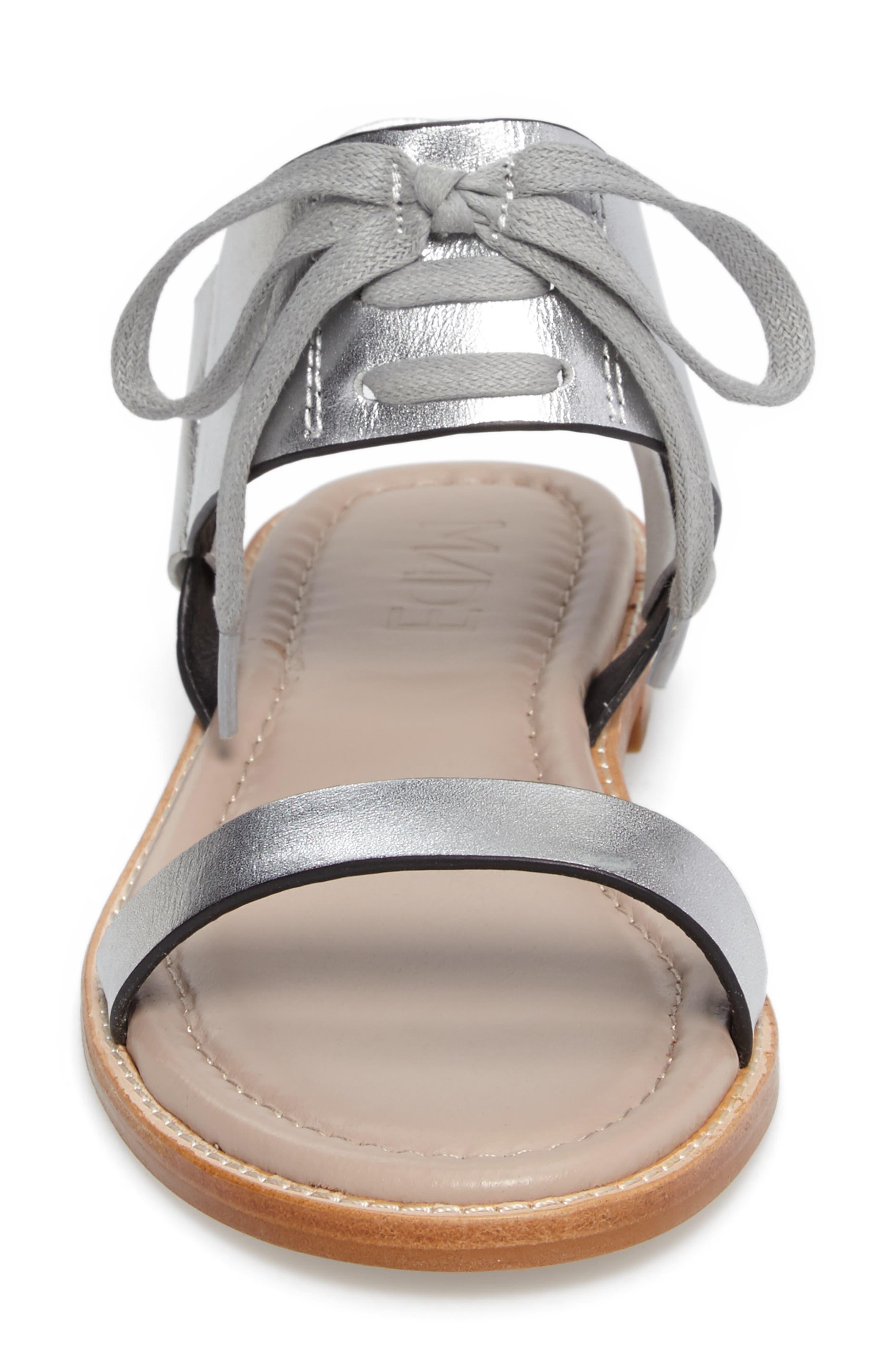 M4D3 Hailey Slingback Sandal,                             Alternate thumbnail 4, color,                             Silver Leather