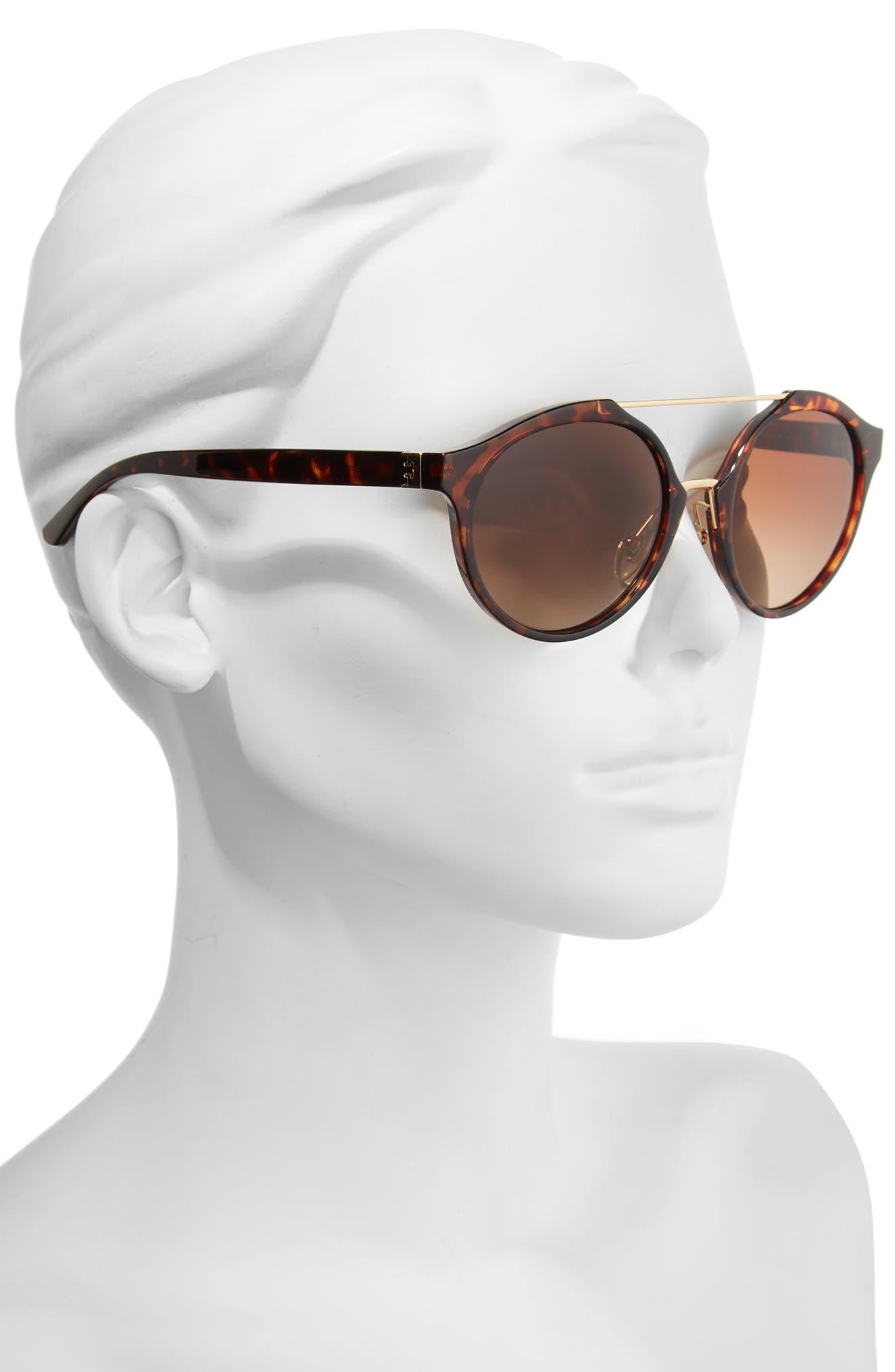 54mm Polarized Sunglasses,                             Alternate thumbnail 2, color,                             Tortoise/ Polar