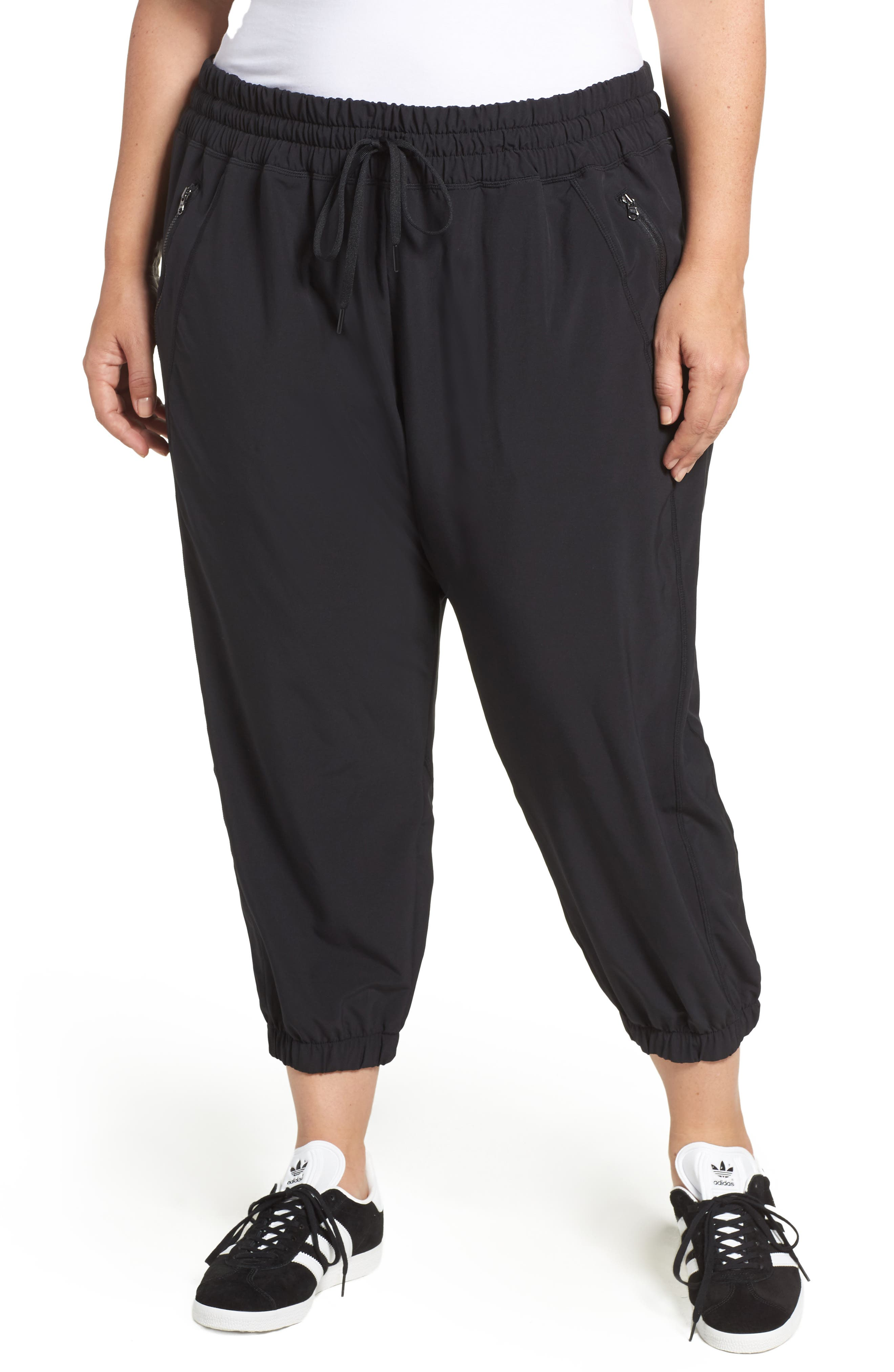 Main Image - Zella Out & About Crop Jogger Pants (Plus Size)