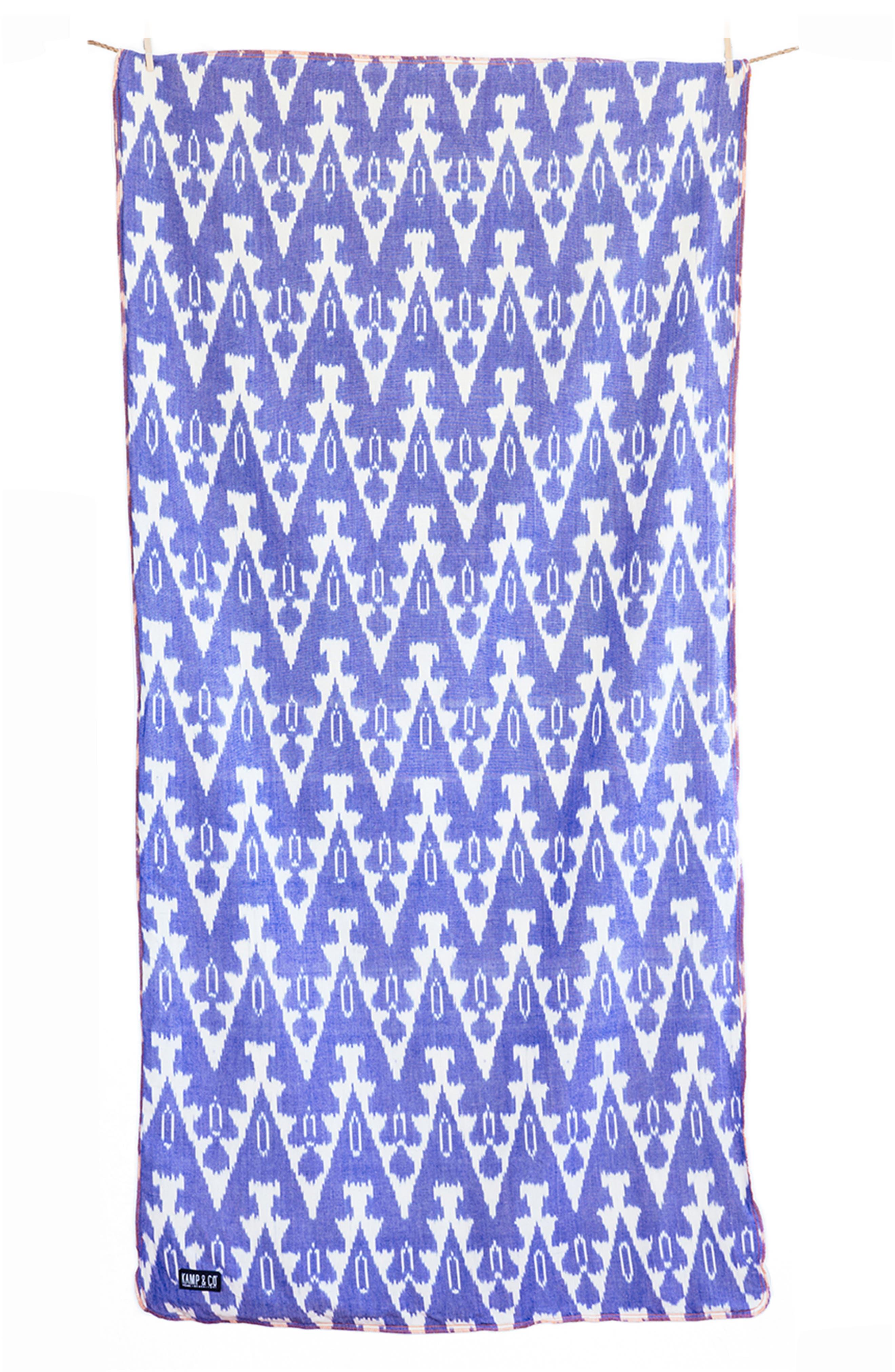 Kamp & Co. Torrey Kamp Towel,                         Main,                         color, Blue/ Cream