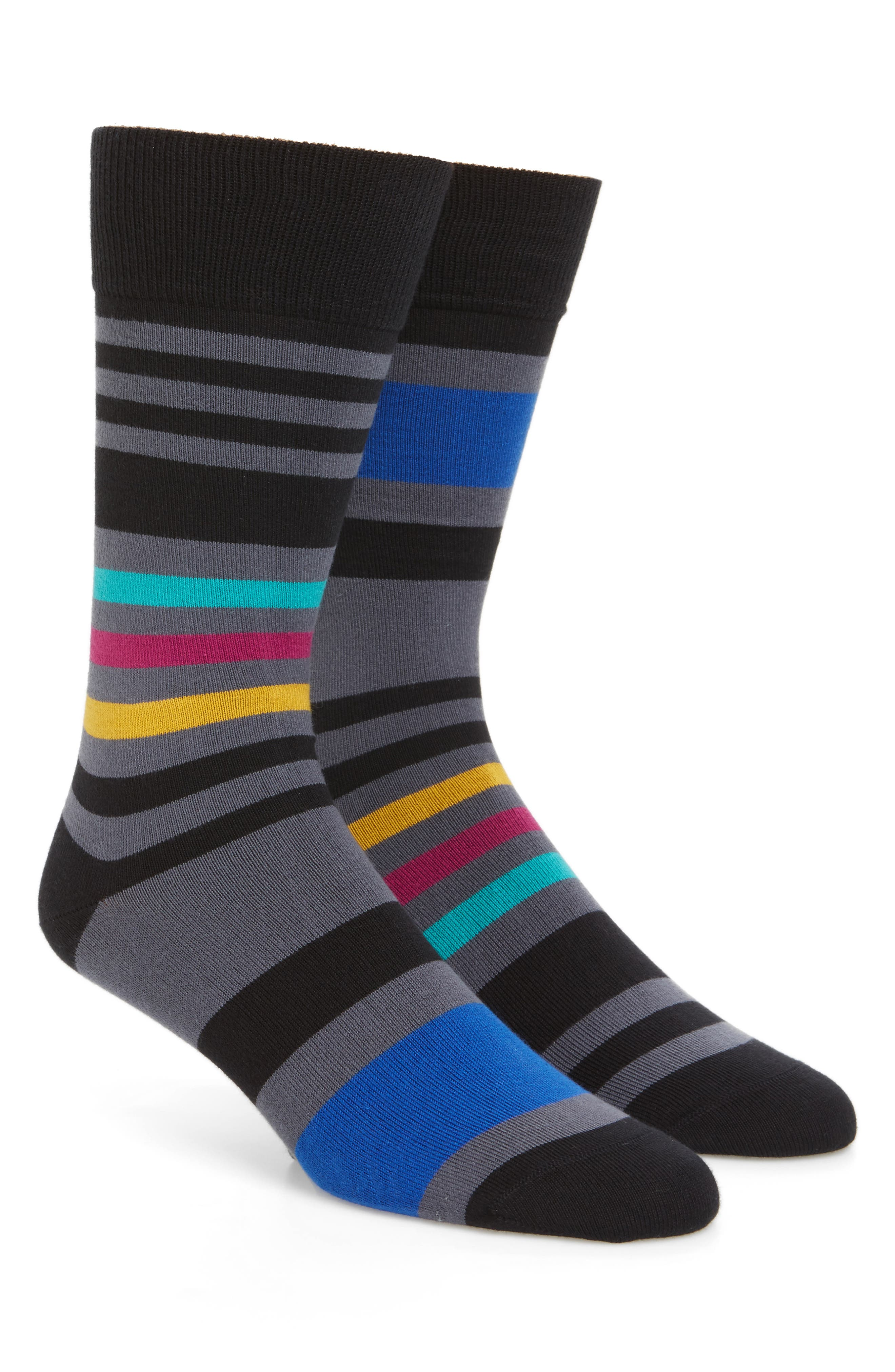 Main Image - Paul Smith Odd Block Stripe Socks