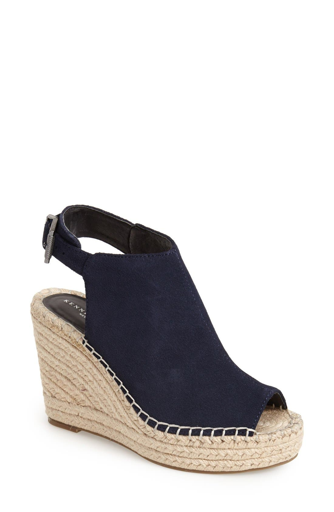 Alternate Image 1 Selected - Kenneth Cole New York 'Olivia' Espadrille Wedge Sandal (Women)