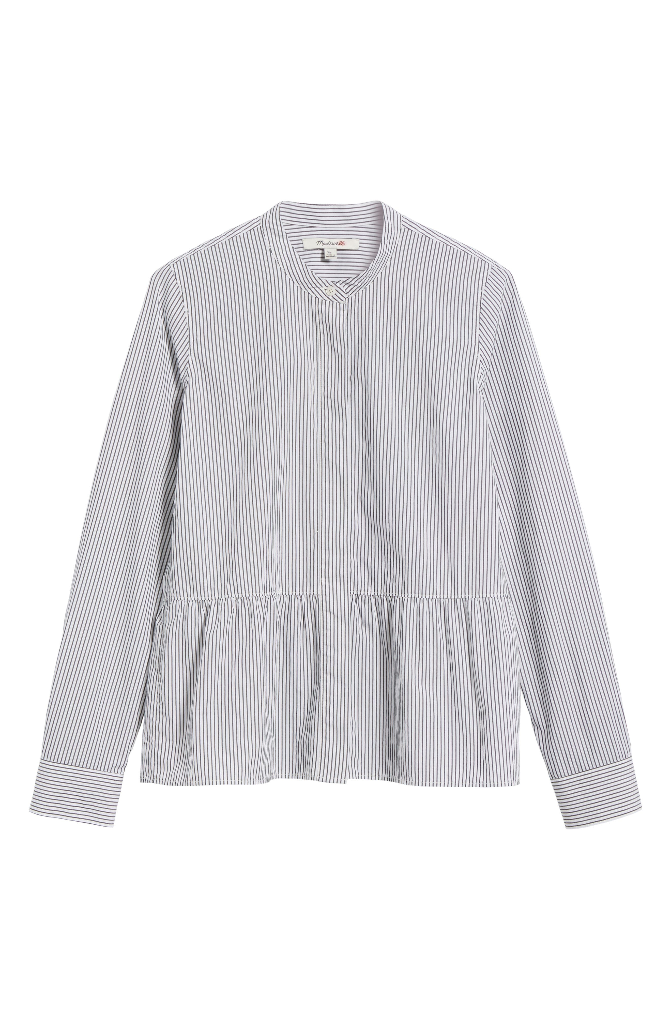 Alternate Image 7  - Madewell Peplum Shirt