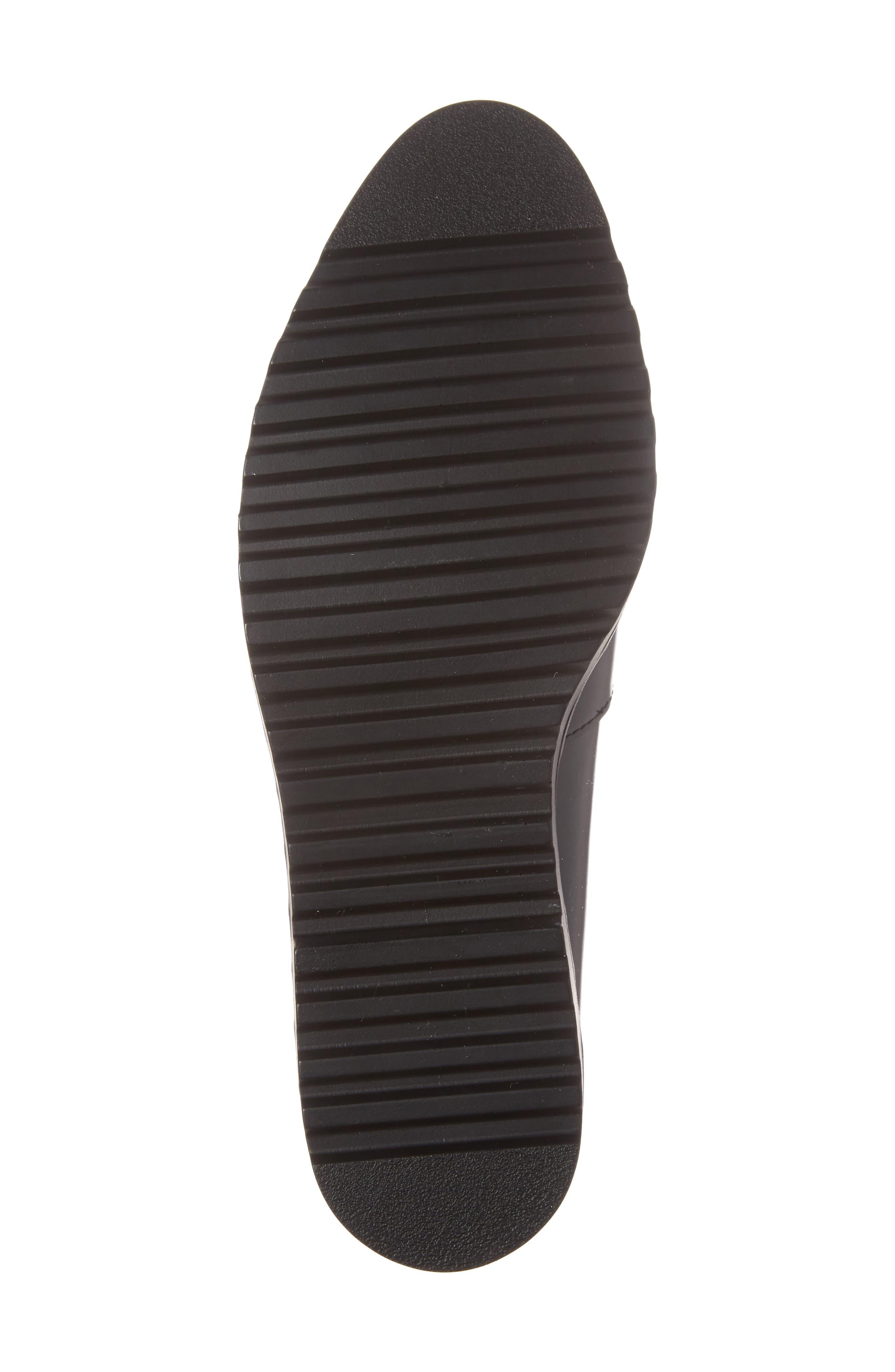 Emily Studded Flat,                             Alternate thumbnail 6, color,                             Black Box Leather