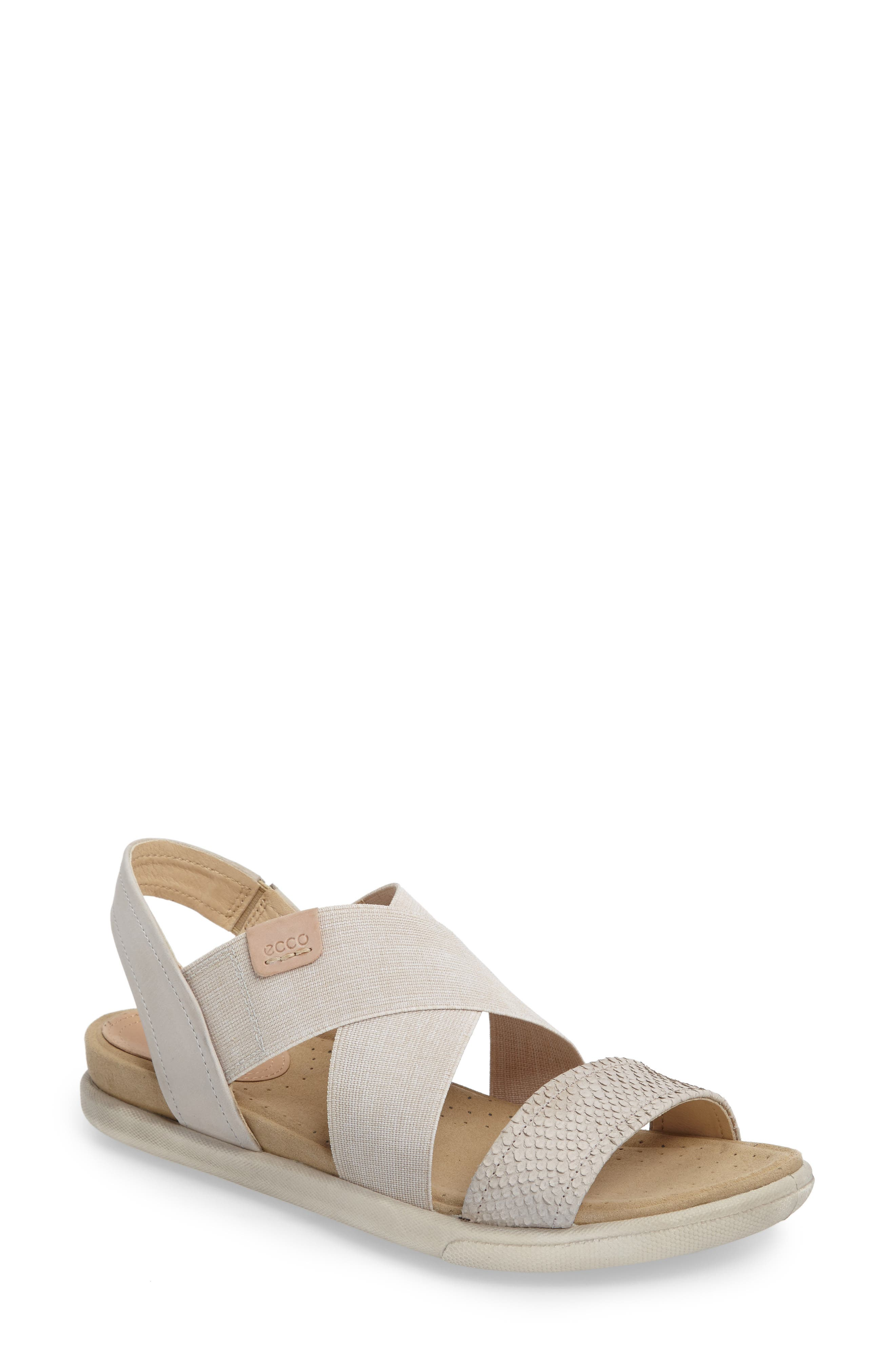 Alternate Image 1 Selected - ECCO Damara Cross-Strap Sandal (Women)