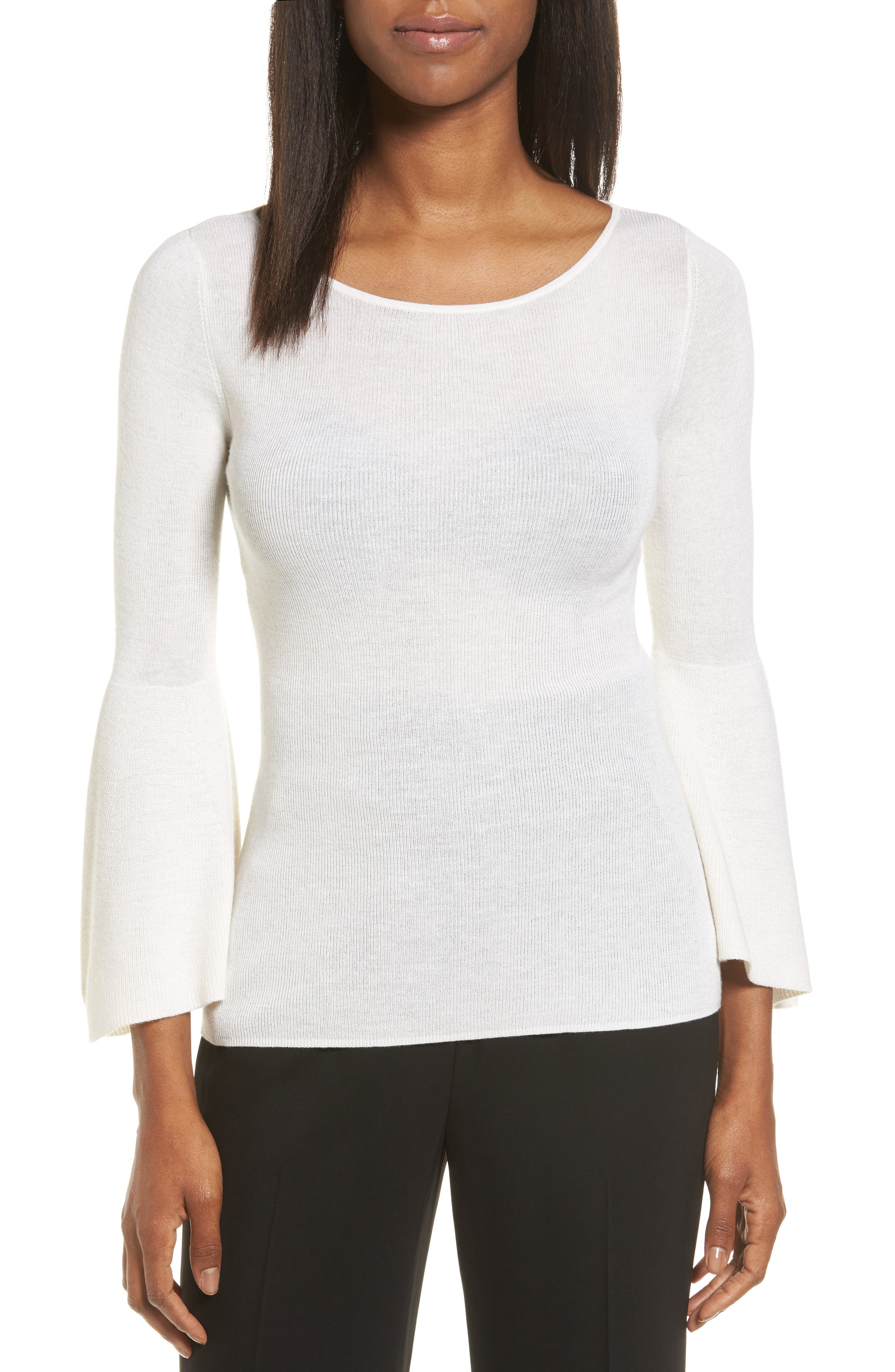 Classiques Entier® Bell Sleeve Silk & Cashmere Sweater