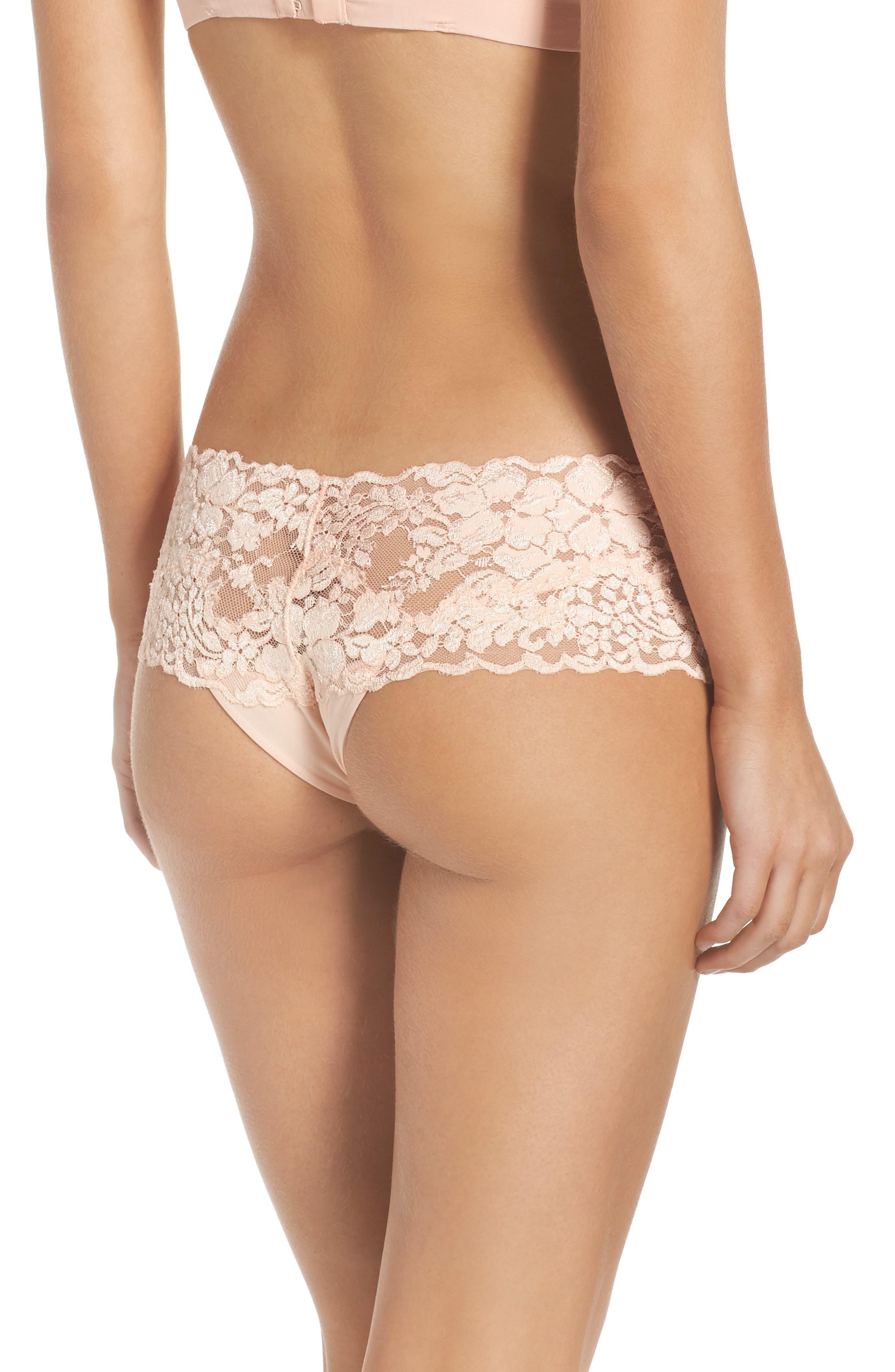 Azalea Hipster Panties,                             Alternate thumbnail 2, color,                             Peach