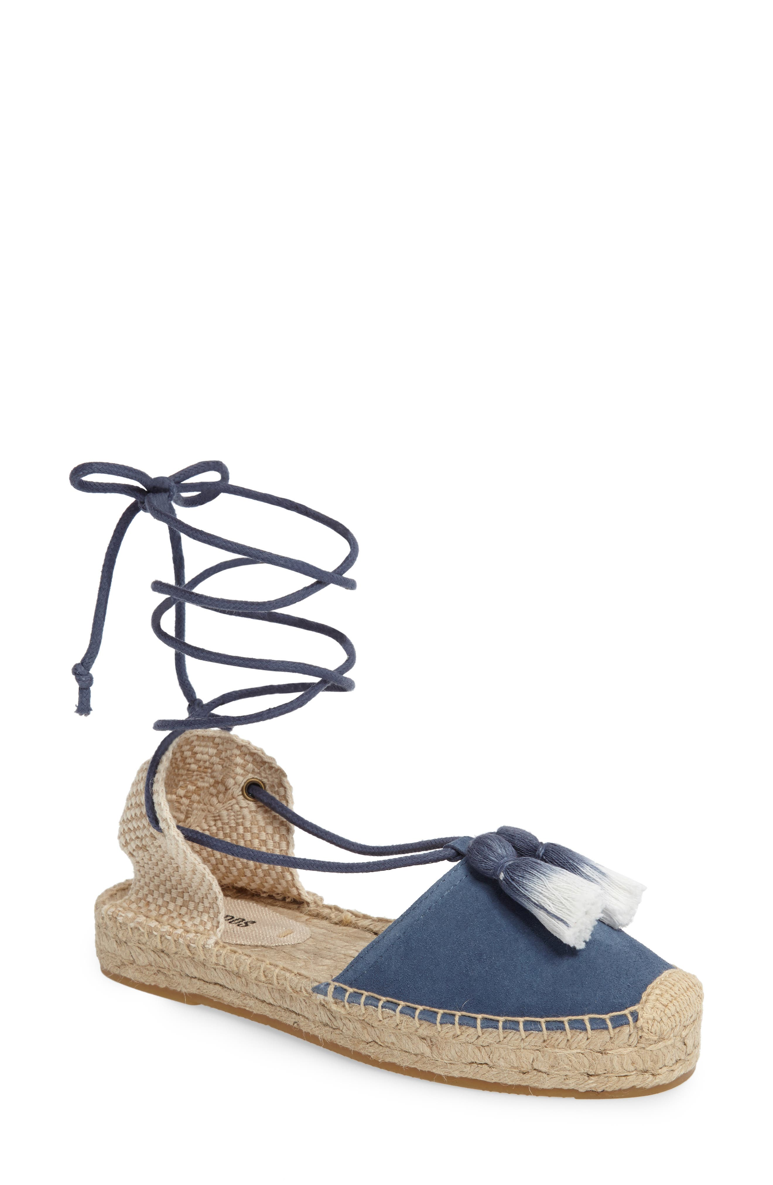 Alternate Image 1 Selected - Soludos Tassel Lace-Up Espadrille (Women)
