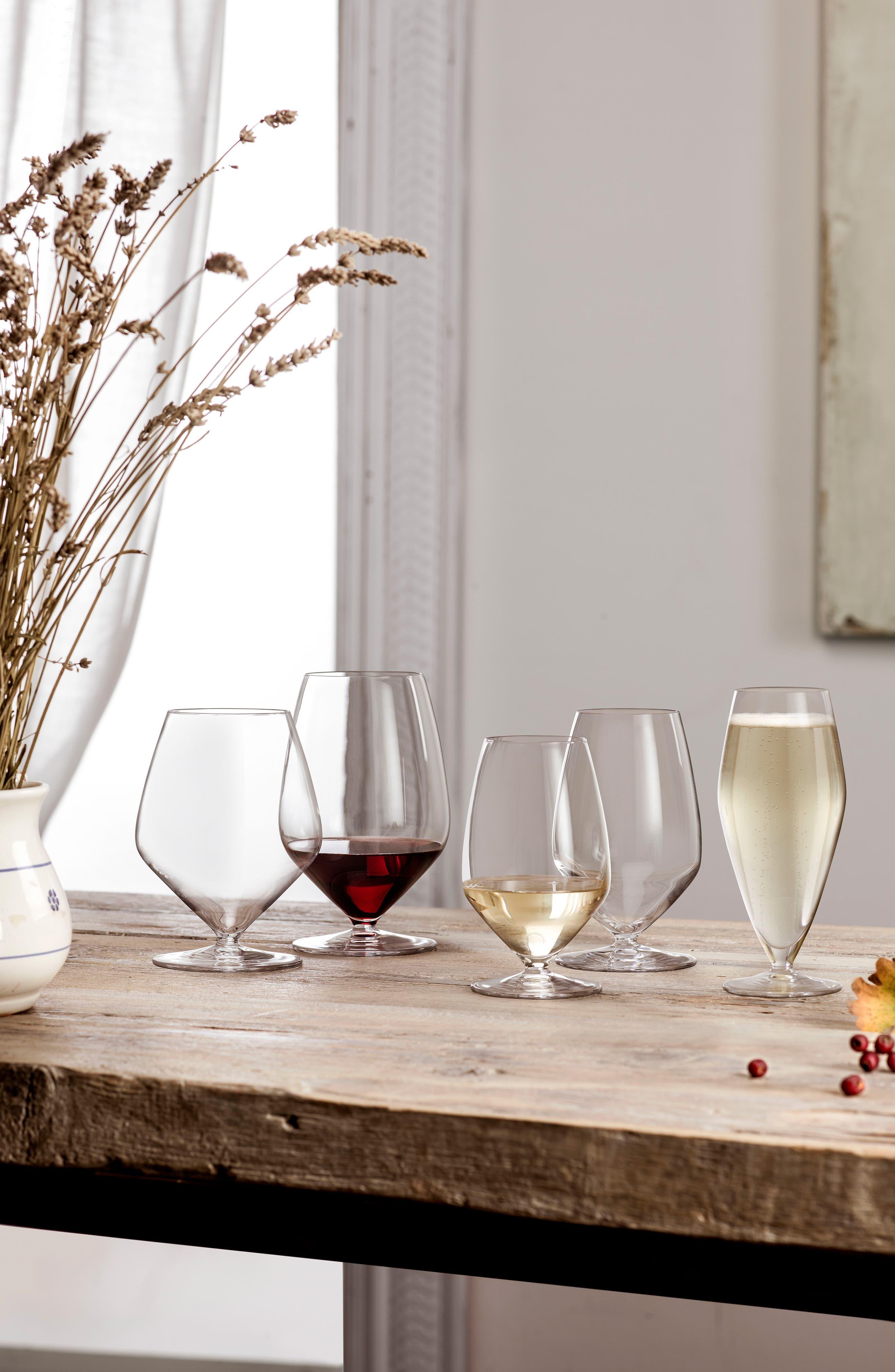 T-Glass Set of 4 Cabernet/Merlot Glasses,                             Alternate thumbnail 2, color,                             Clear