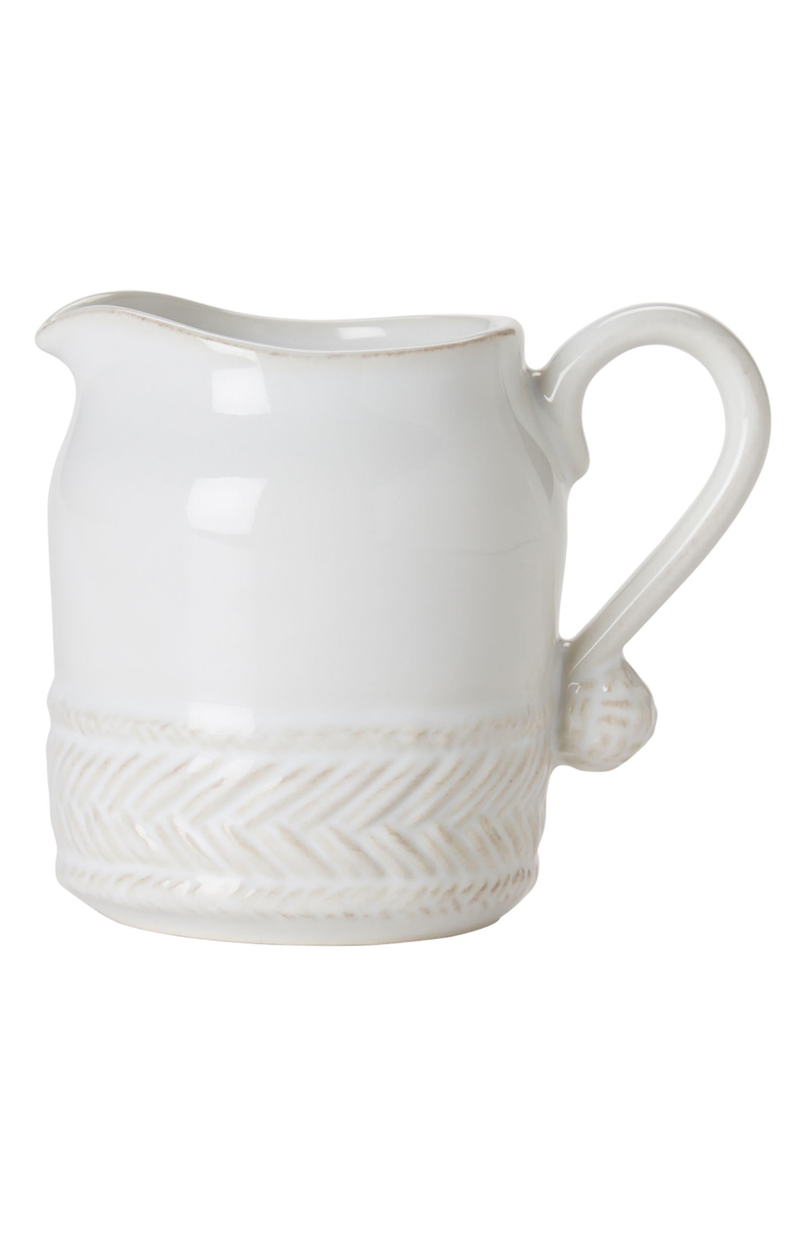 Le Panier Ceramic Creamer,                             Main thumbnail 1, color,                             Whitewash