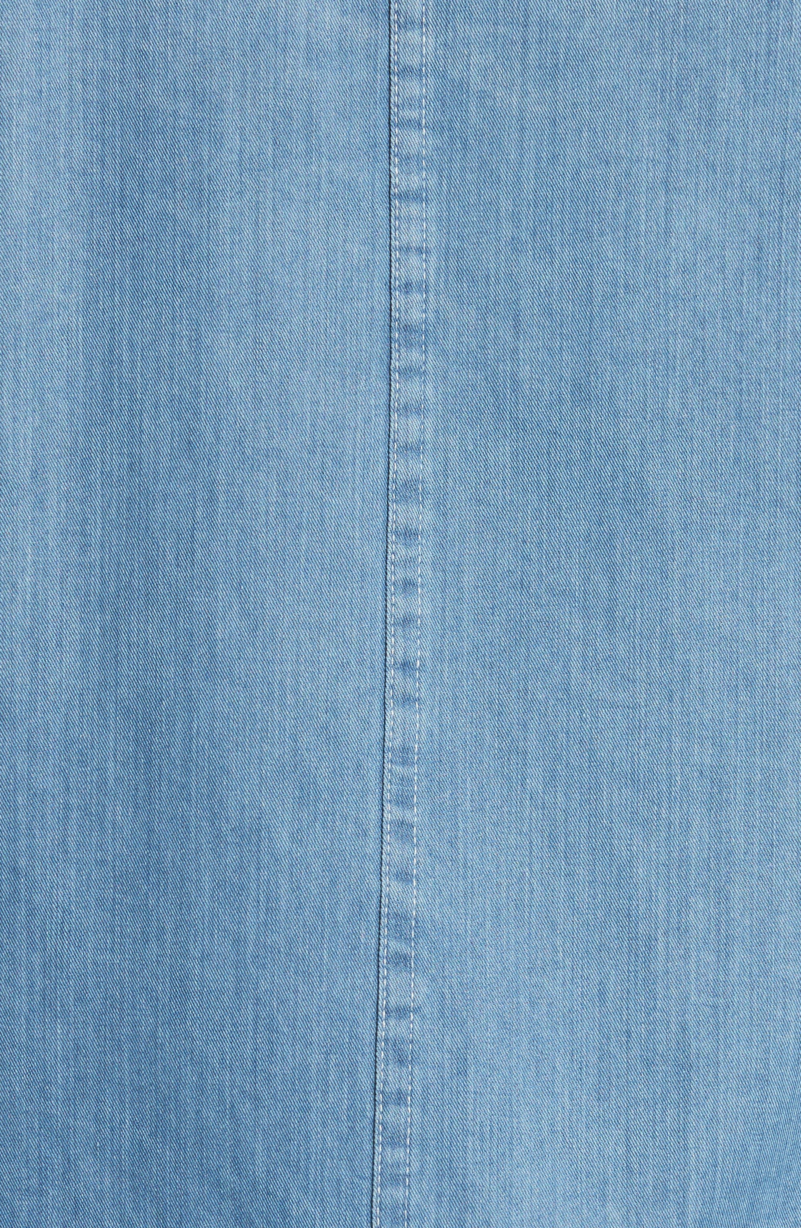 Alternate Image 5  - OVADIA & SONS Eastern Denim Sport Shirt