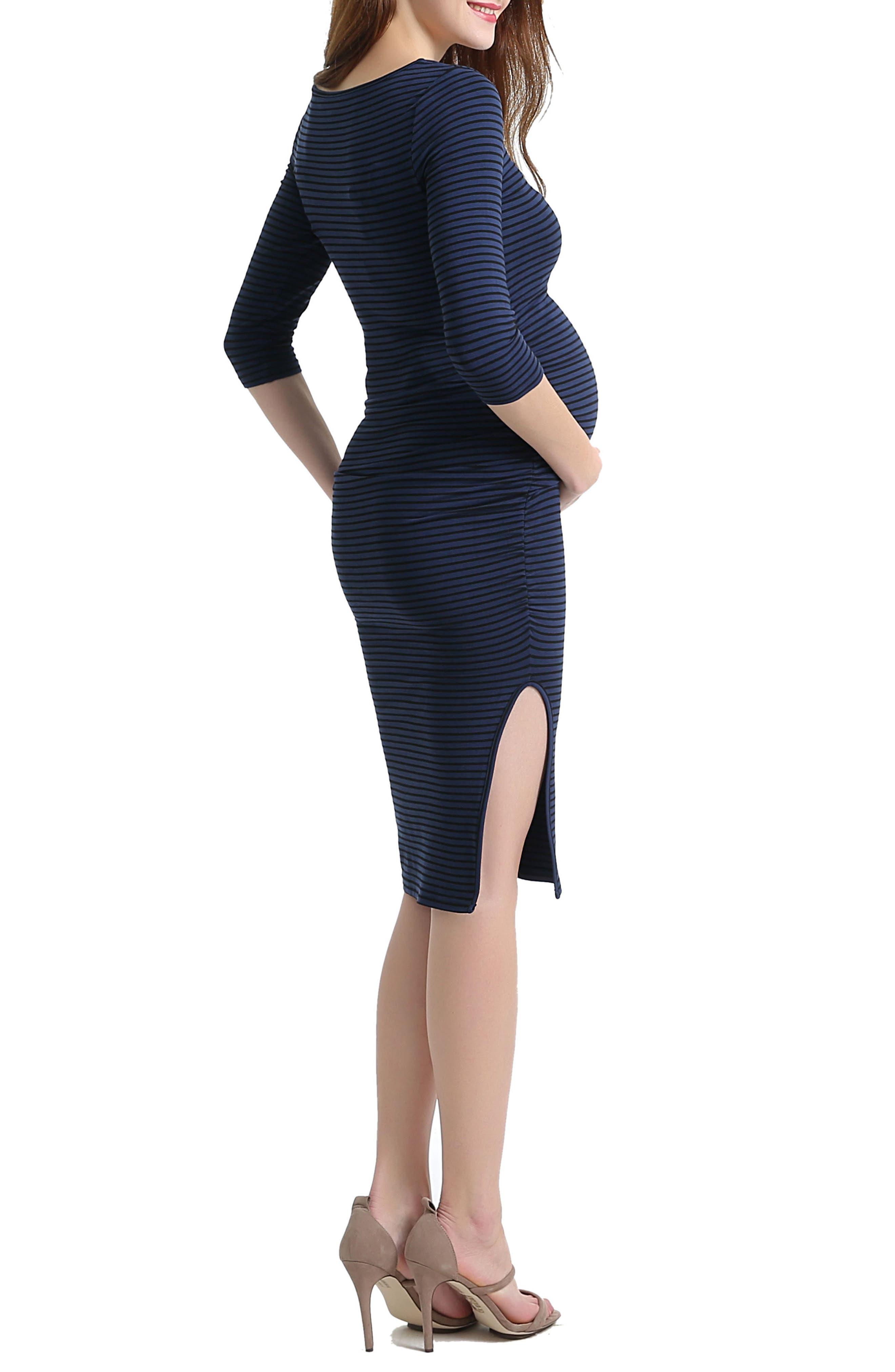 Alternate Image 3  - Kimi and Kai Nora Stripe Maternity Dress