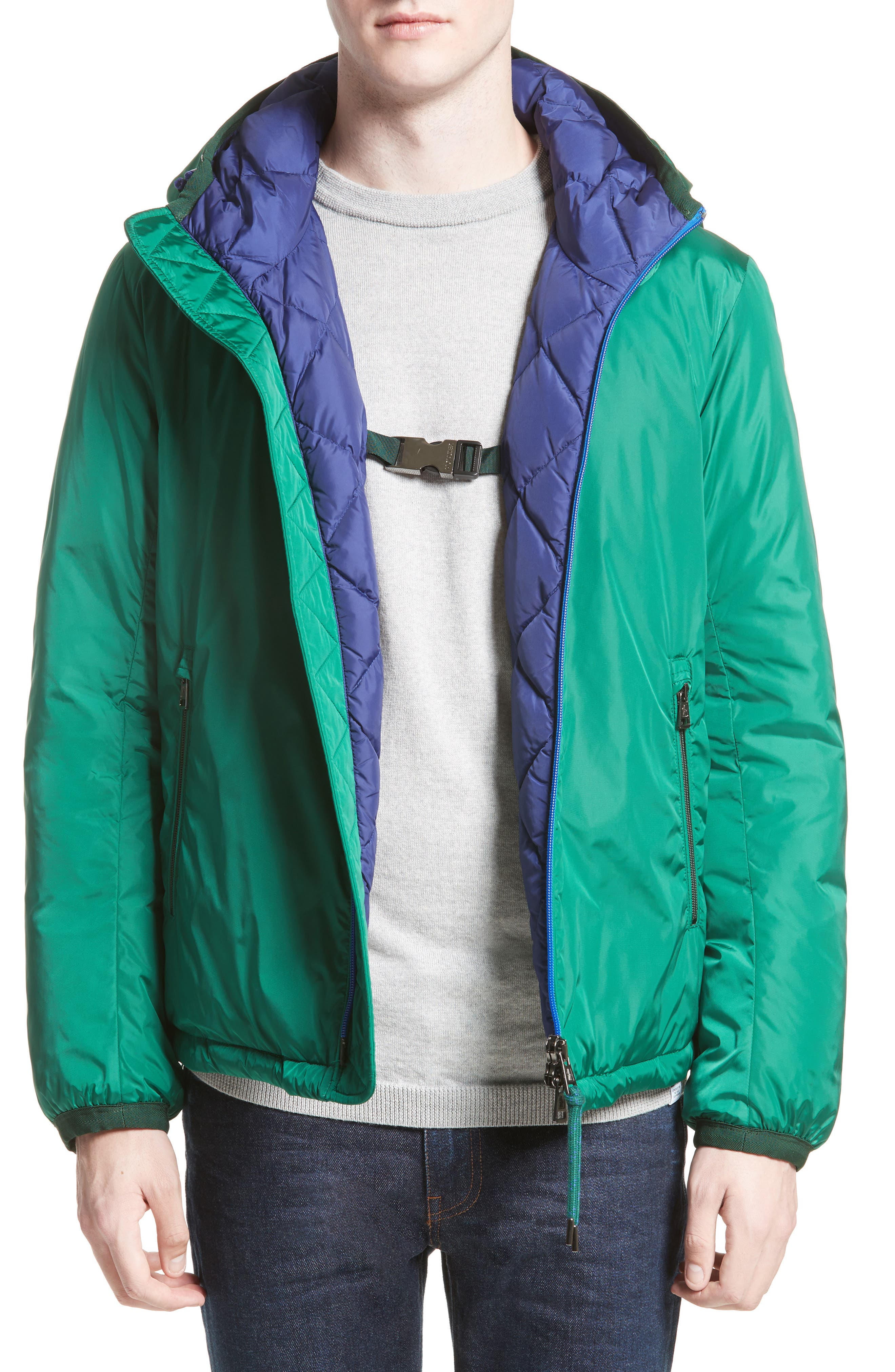Guimet Hooded Down Jacket,                             Alternate thumbnail 4, color,                             Forest Green