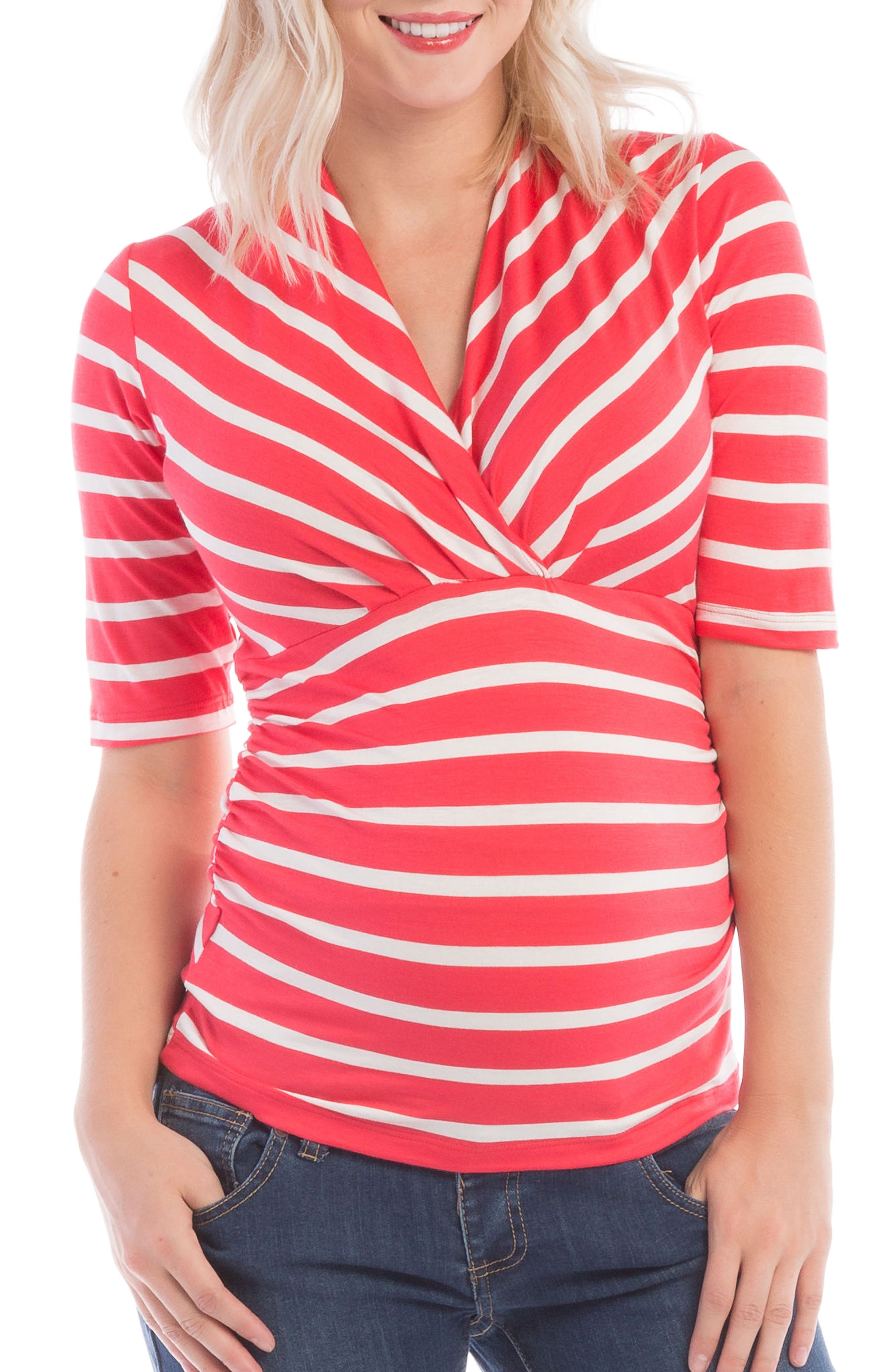 Alternate Image 1 Selected - Lilac Clothing Megan Maternity/Nursing Top