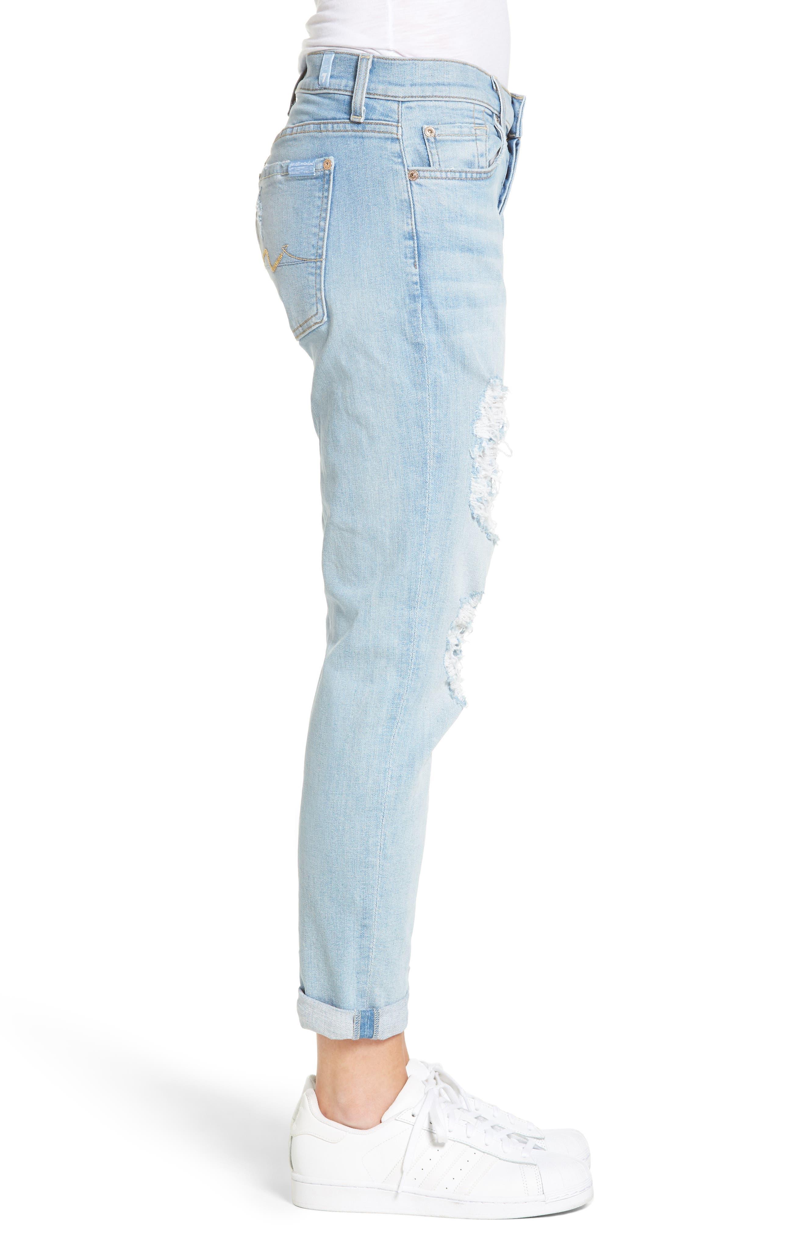 Alternate Image 3  - 7 For All Mankind® 'Josefina' Boyfriend Jeans (Ocean Breeze)