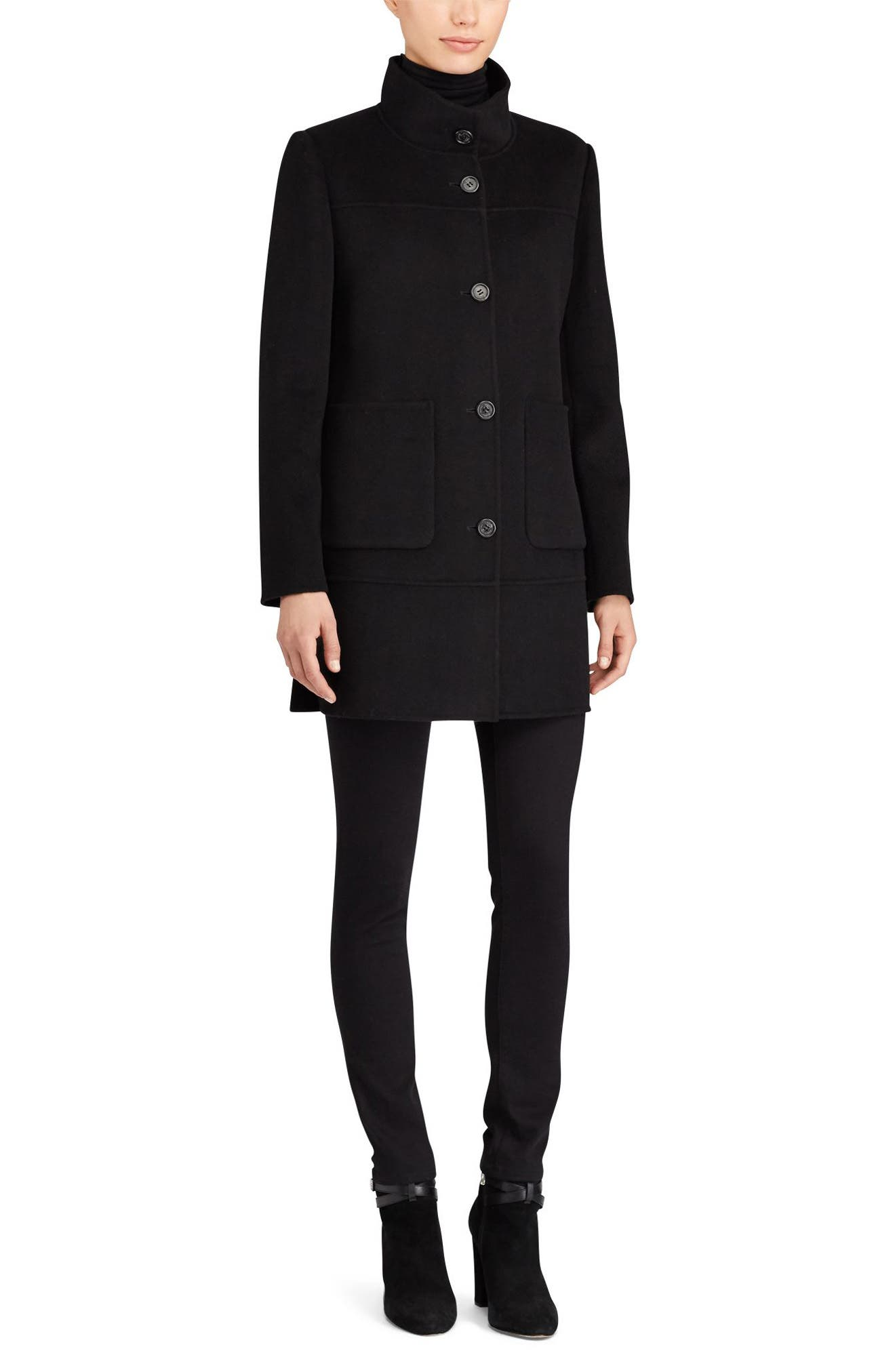 Alternate Image 2  - Lauren Ralph Lauren Double Face Wool Blend Coat
