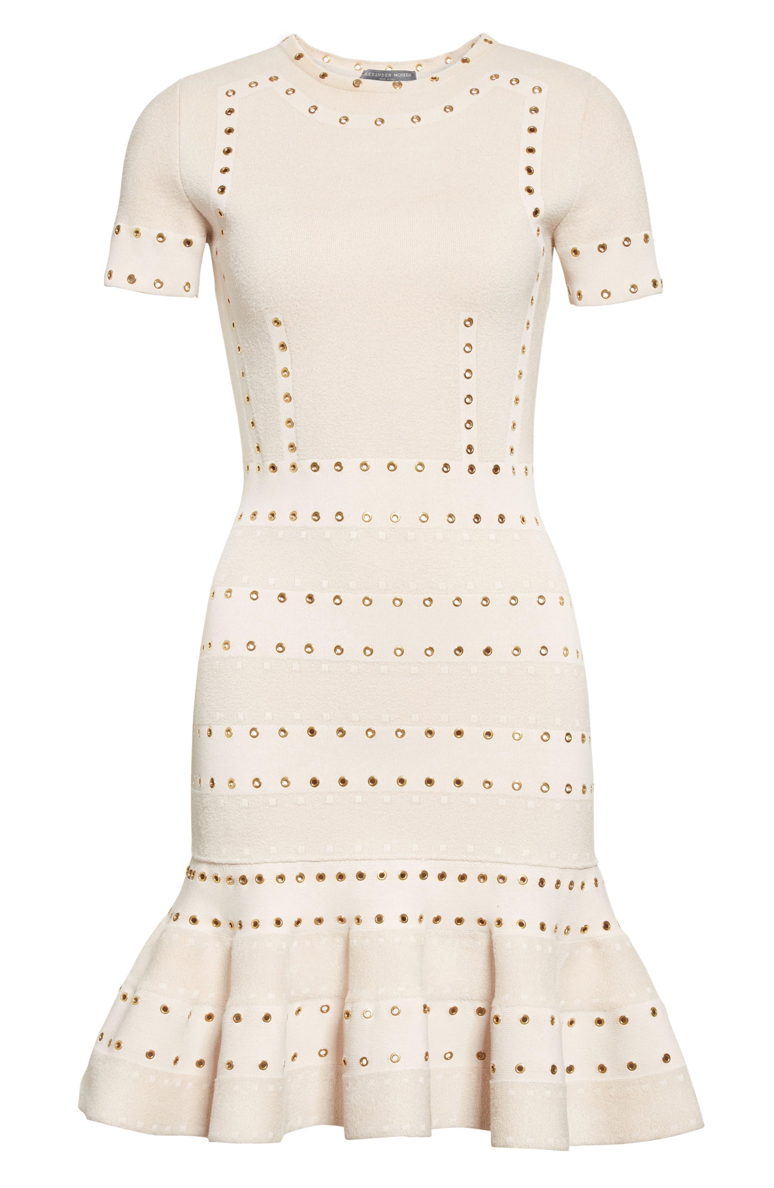 Alternate Image 6  - Alexander McQueen Eyelet Detail Knit Dress