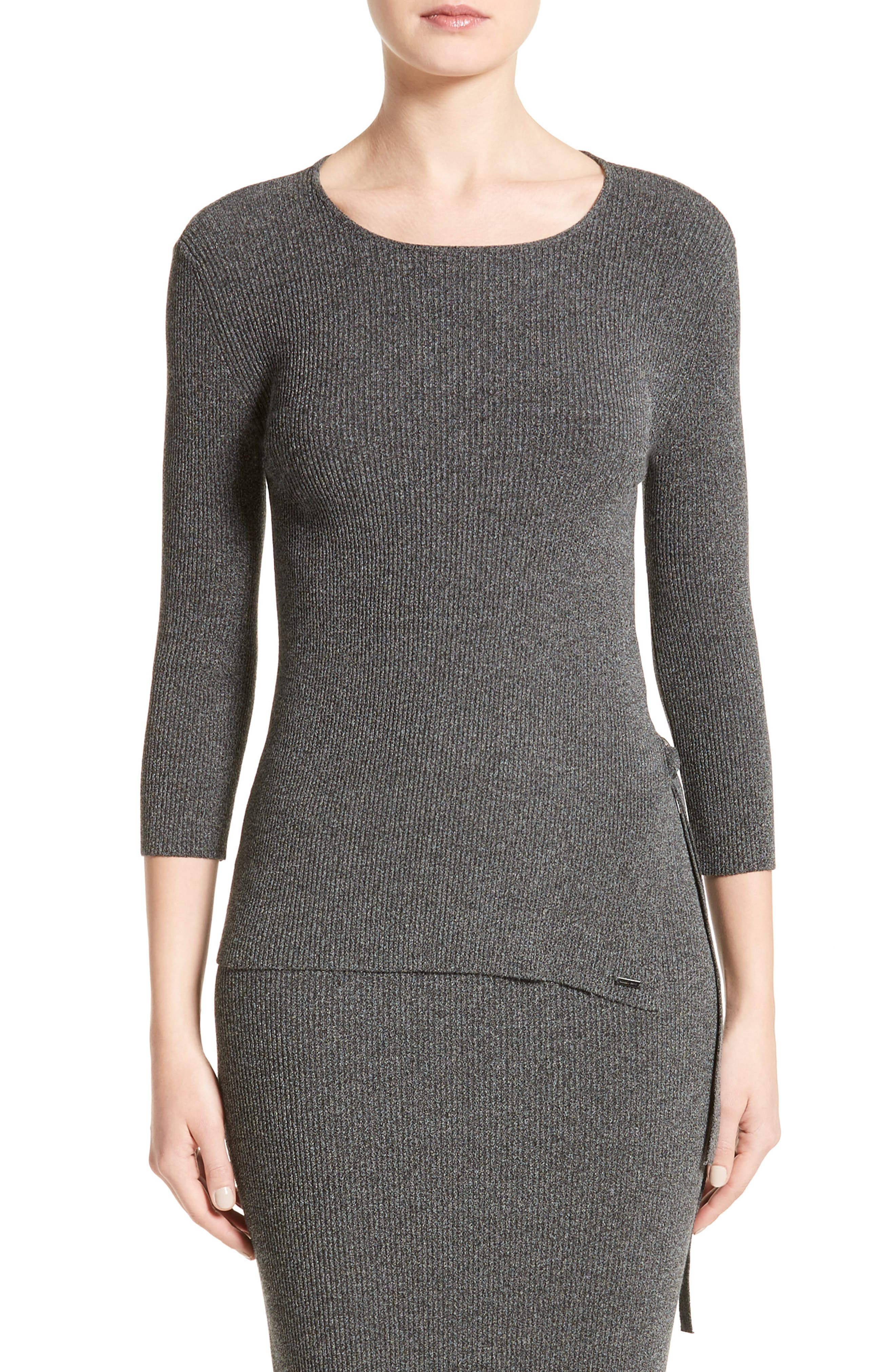 ARMANI COLLEZIONI Armani Jeans Rib Knit D-Ring Sweater
