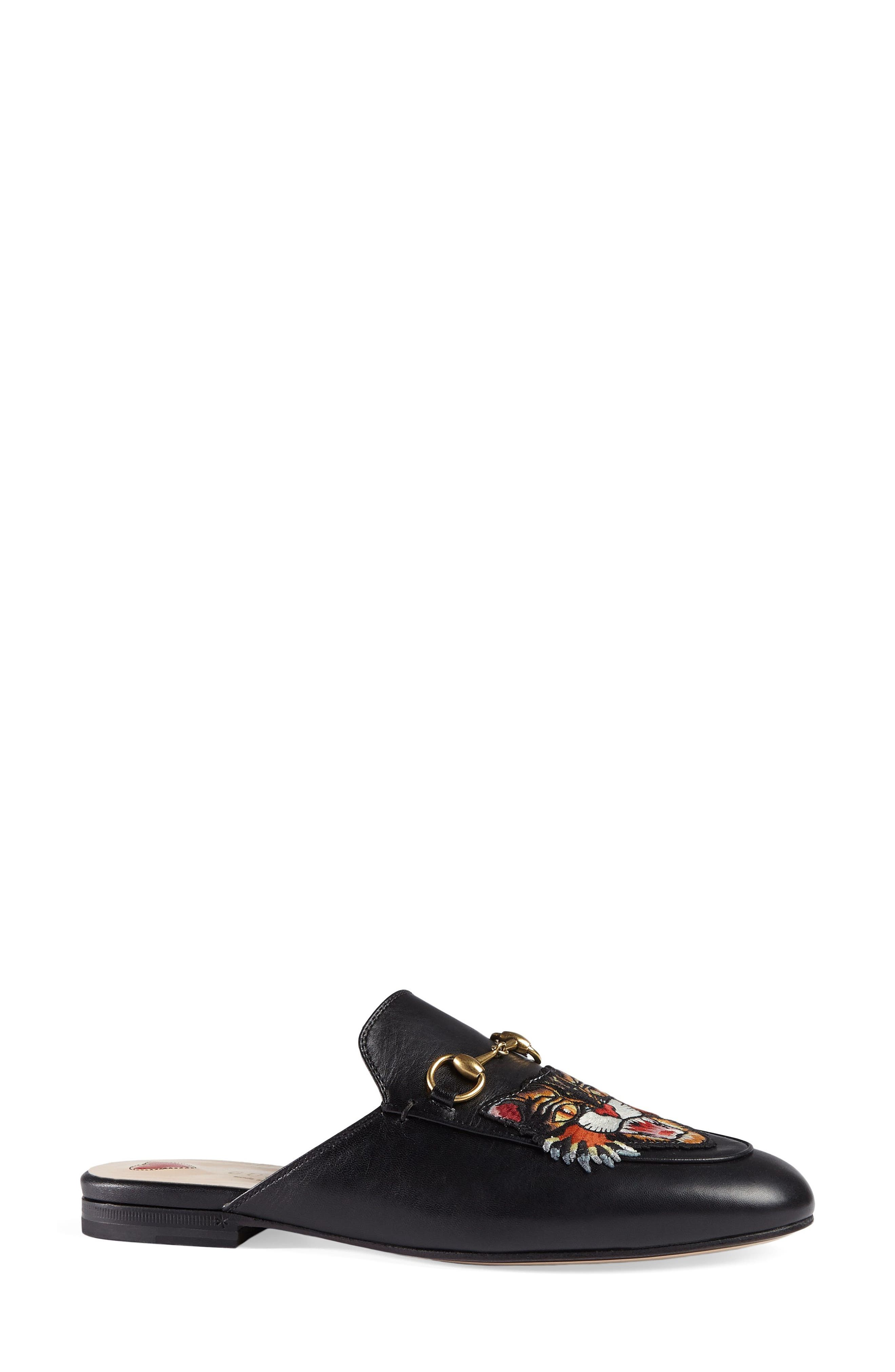 Alternate Image 3  - Gucci Princetown Angry Cat Mule Loafer (Women)