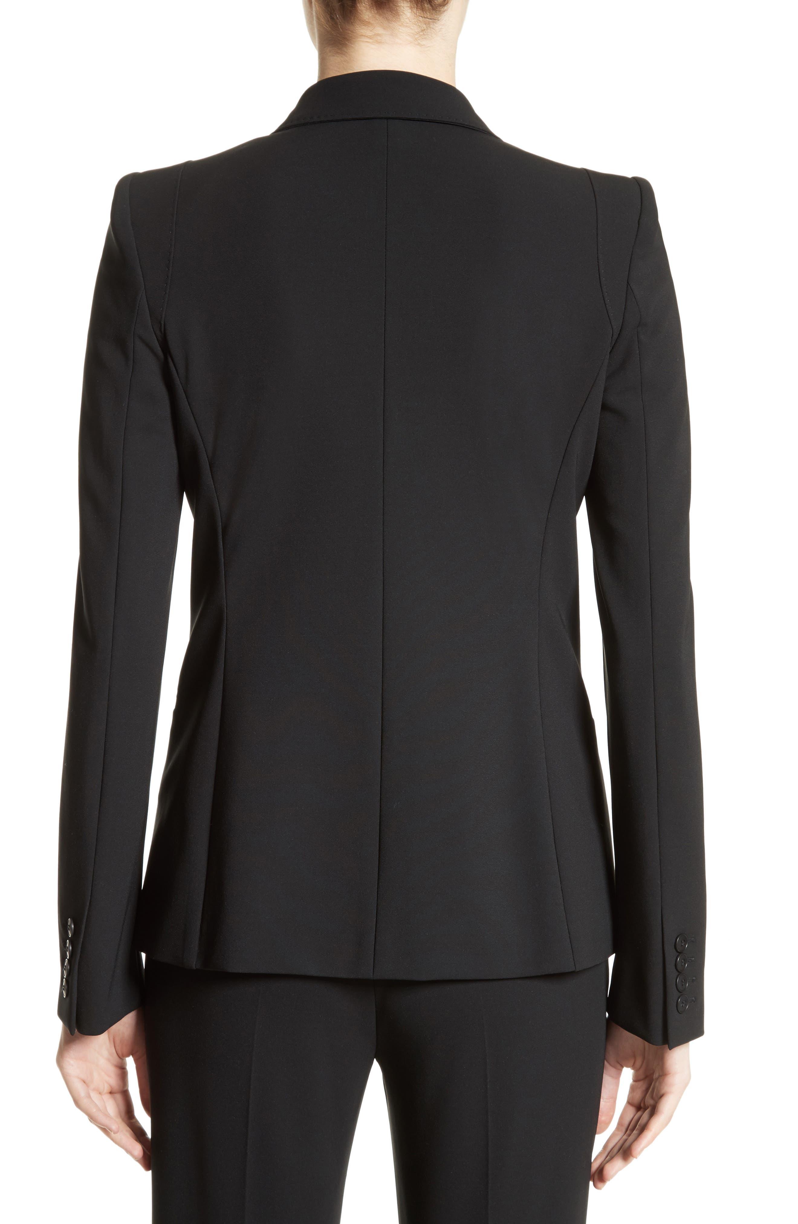 Bari Stretch Jersey Jacket,                             Alternate thumbnail 2, color,                             Black