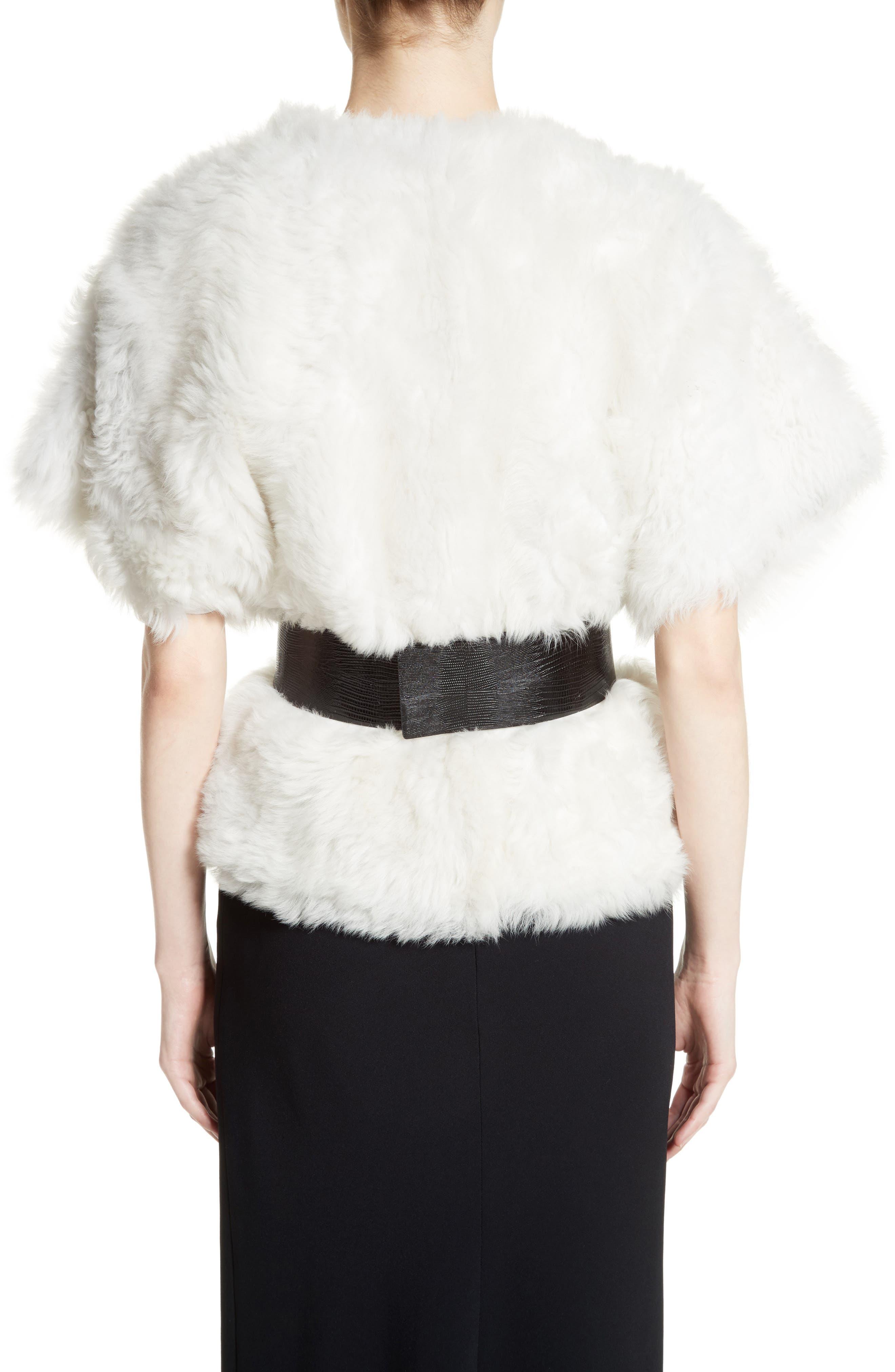 Alternate Image 2  - Max Mara Fiorigi Genuine Lamb Fur Bolero