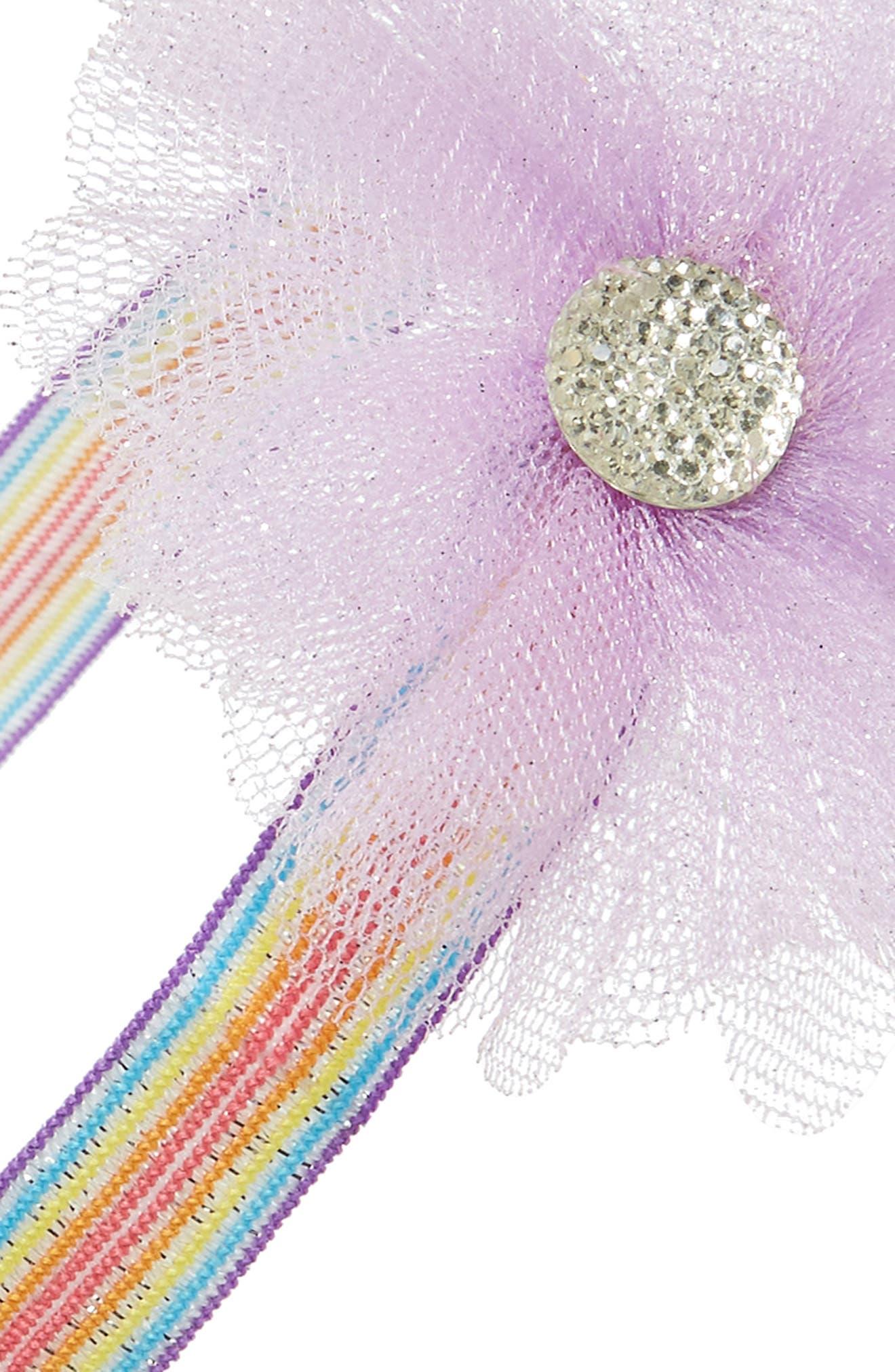 Embellished Glitter Headband,                             Alternate thumbnail 2, color,                             Lavender