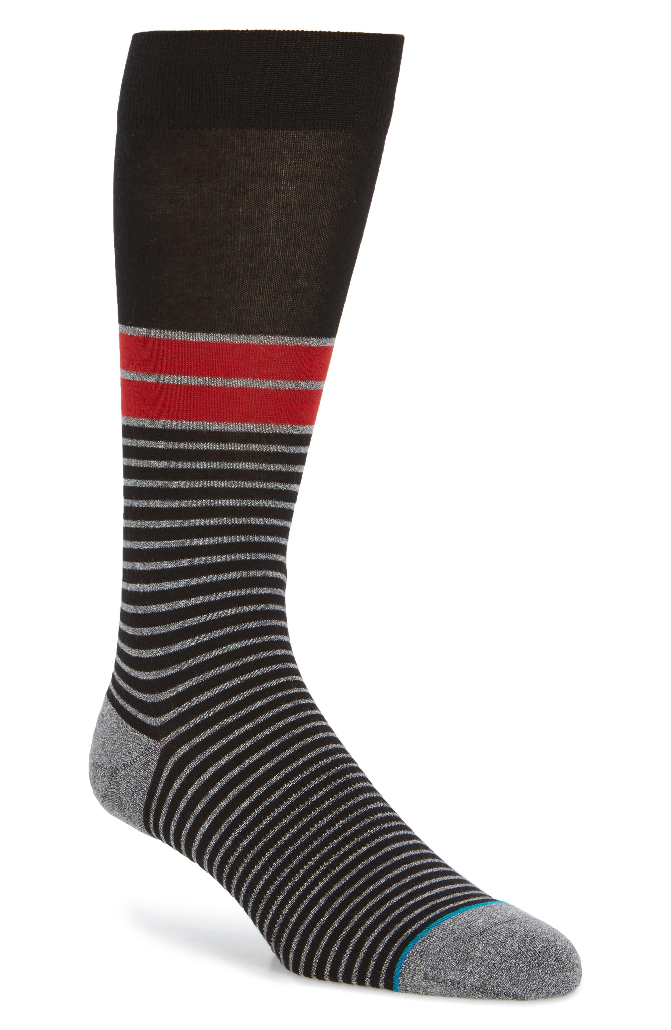 San Lucan Crew Socks,                         Main,                         color, Black
