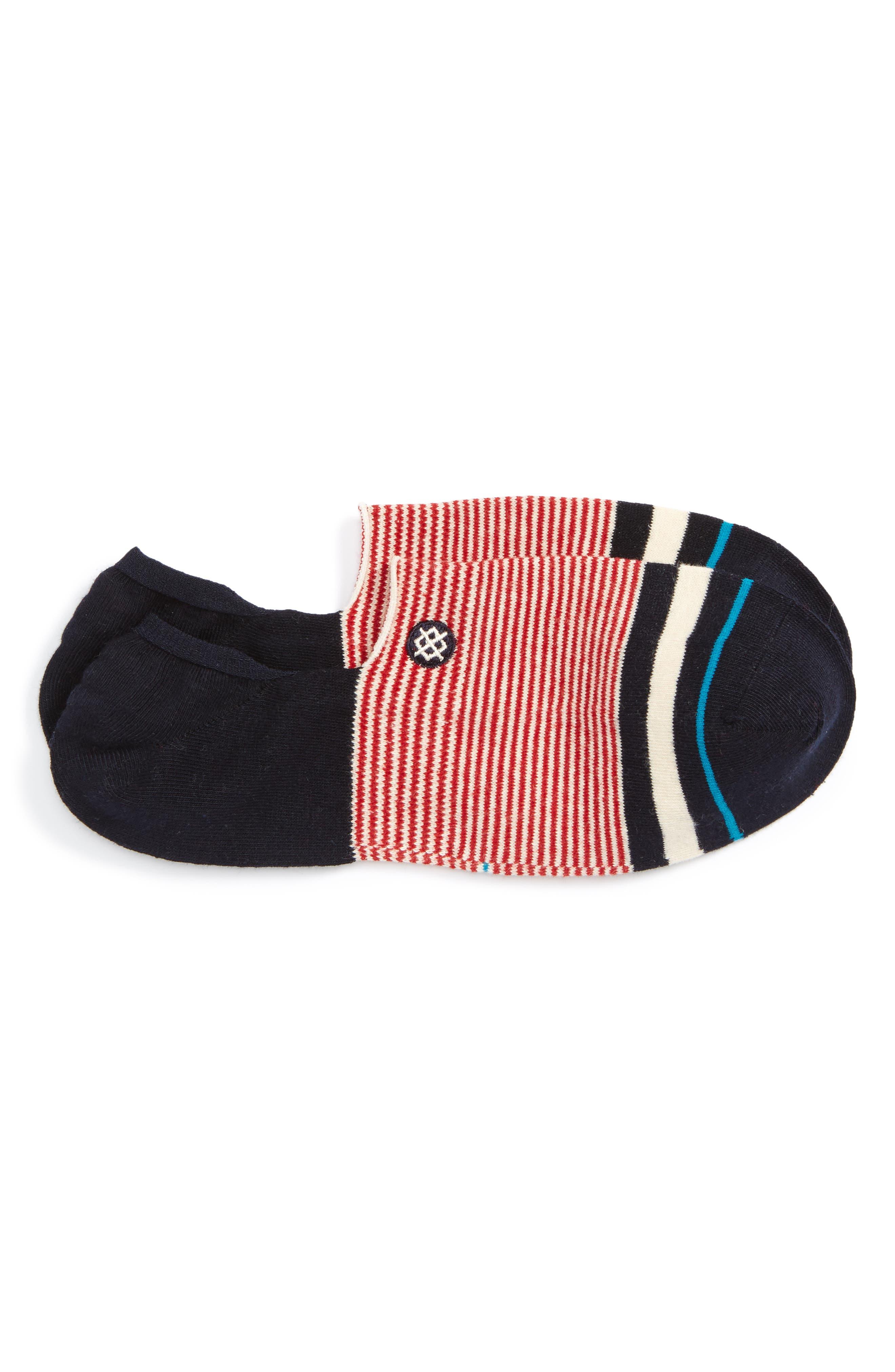 Americana No-Show Socks,                         Main,                         color, Red