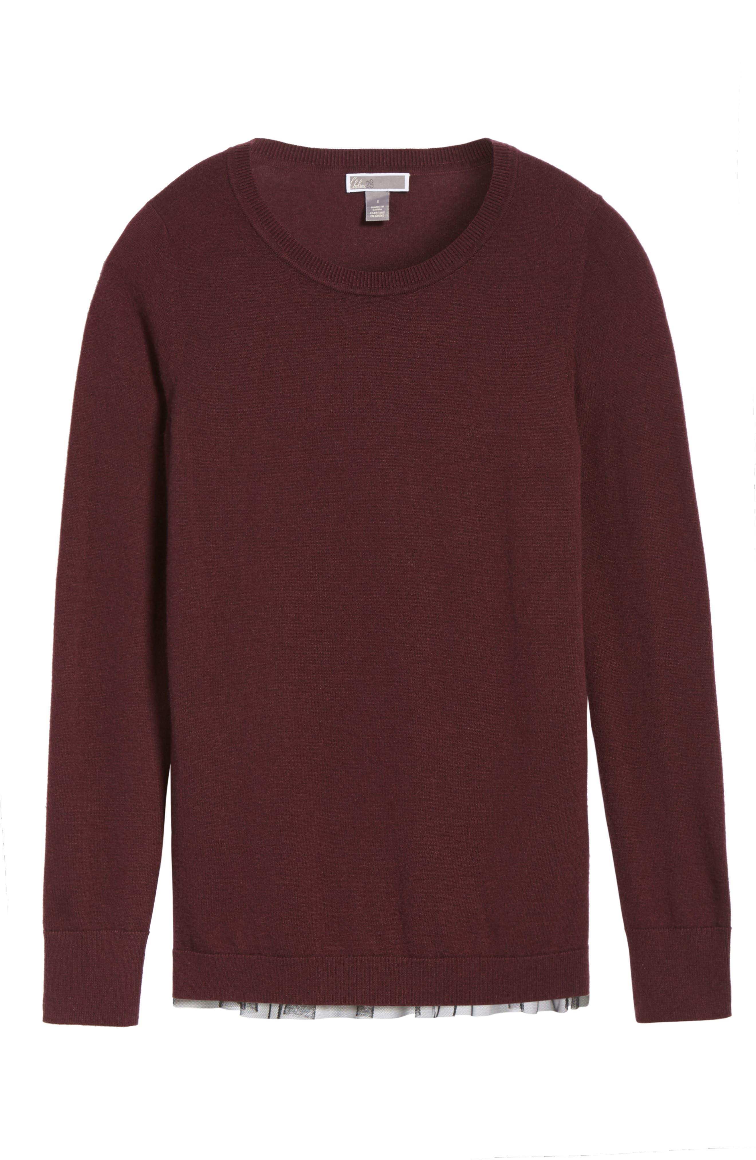 Alternate Image 5  - Chelsea28 Tulle Back Sweater