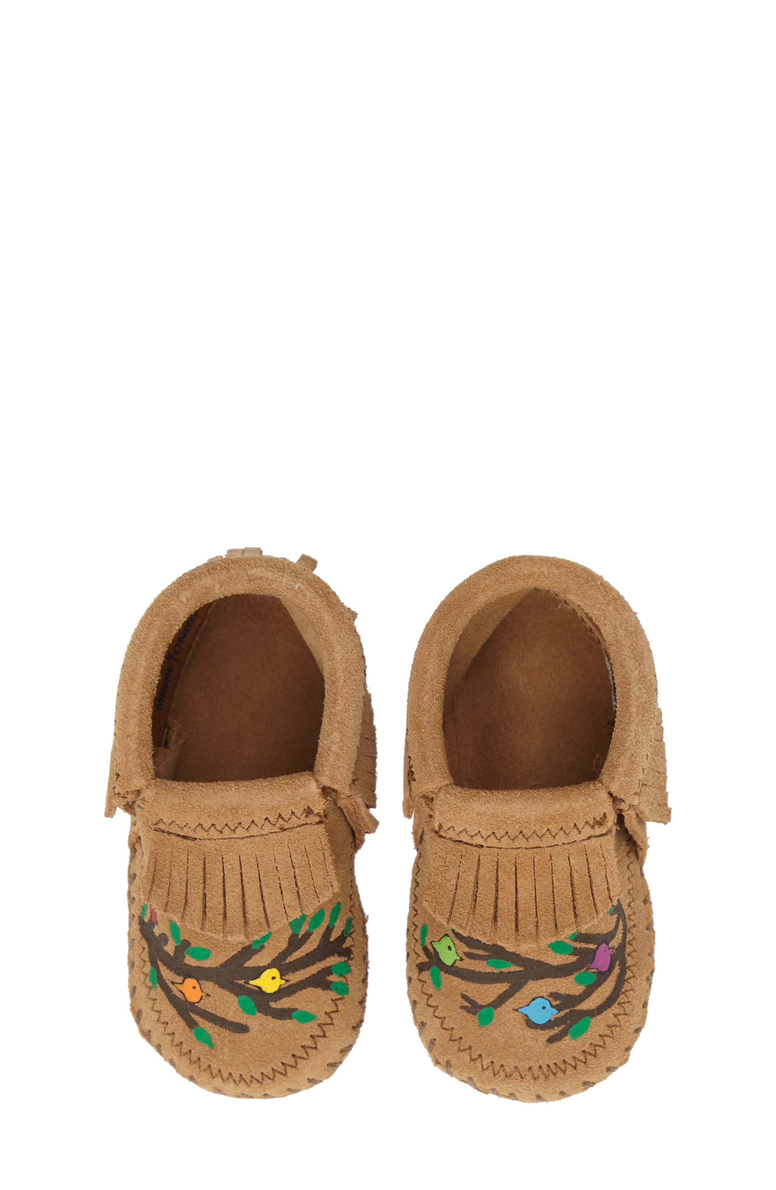 Alternate Image 1 Selected - Minnetonka x Free Range Mama We Are Family Bootie (Baby)