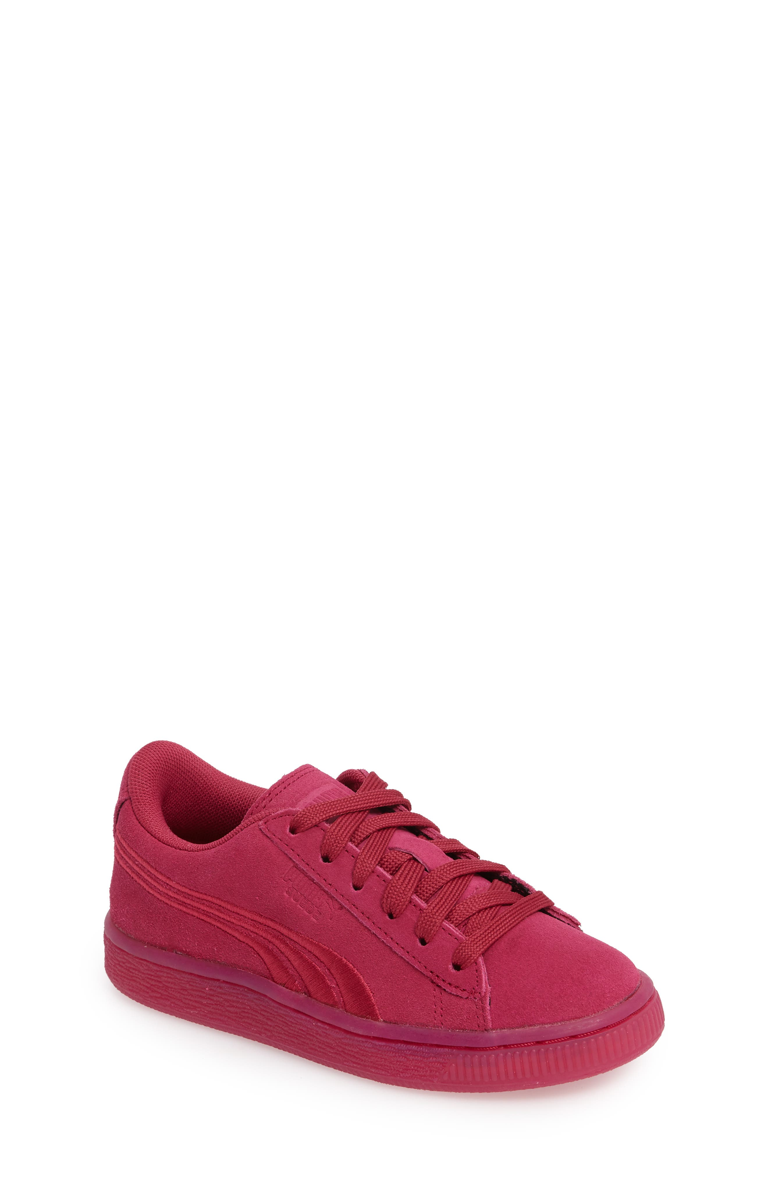 Classic Badge Sneaker,                             Main thumbnail 1, color,                             Red