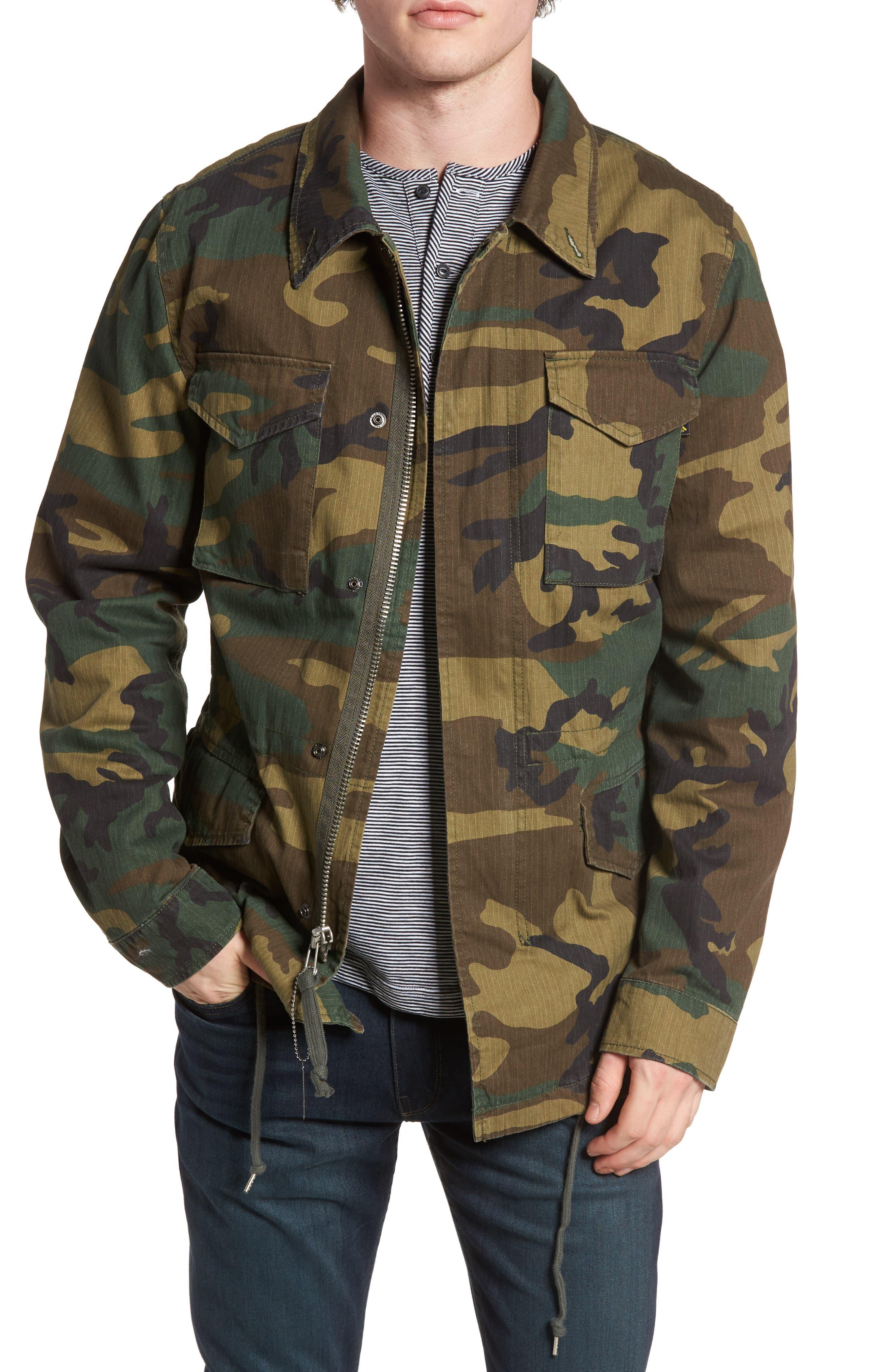 Dragon Tour Camo Field Jacket,                         Main,                         color, Woodland Camo