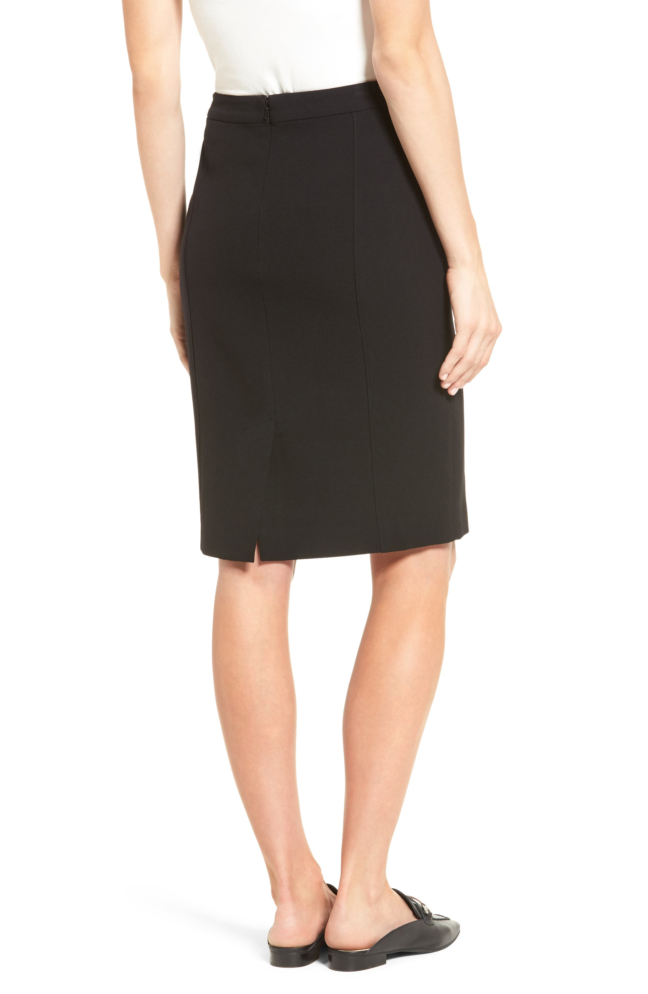 Alternate Image 2  - Halogen® Seamed Pencil Skirt (Regular & Petite)