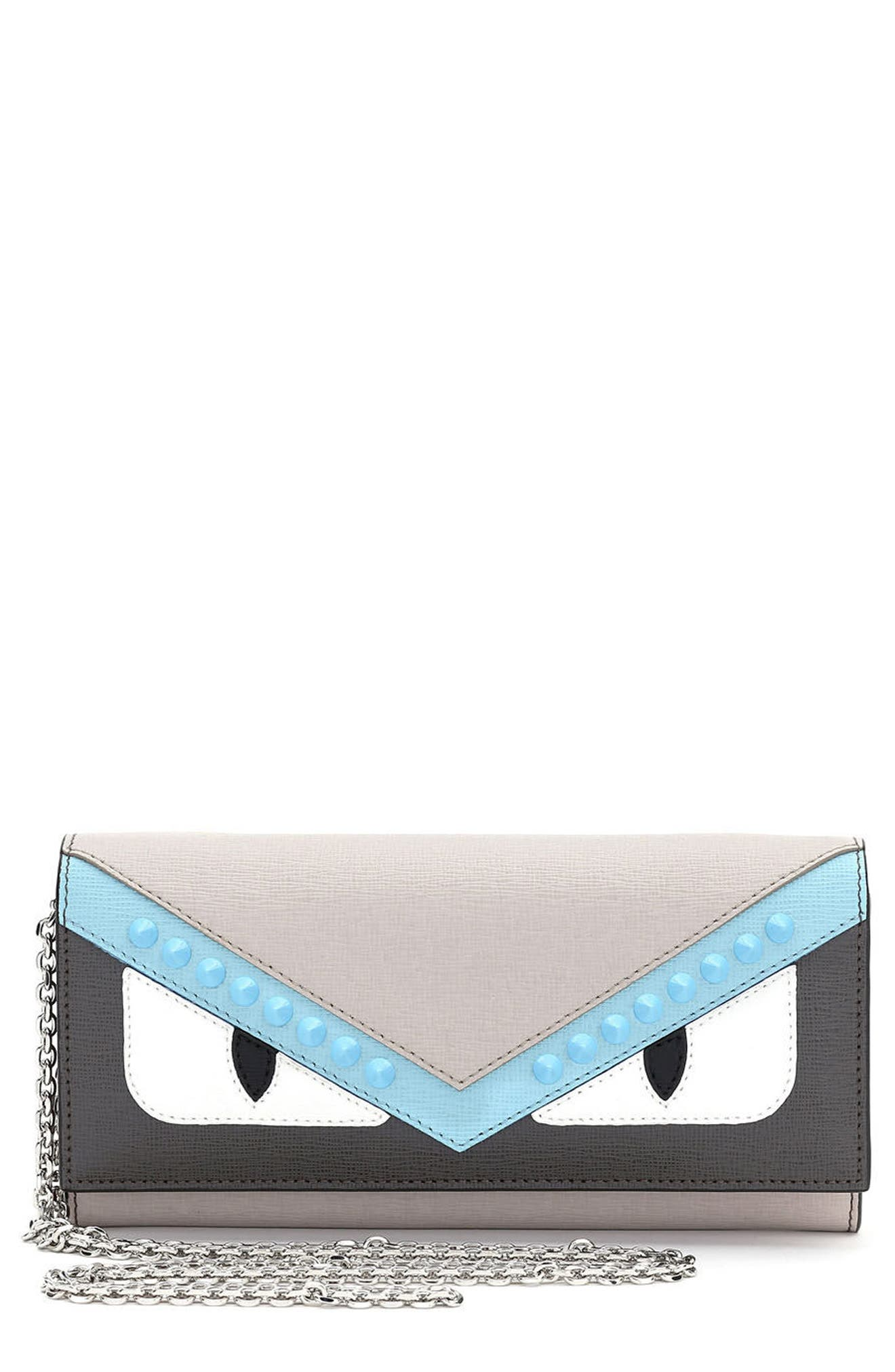 Fendi Monster Elite Leather Continental Wallet